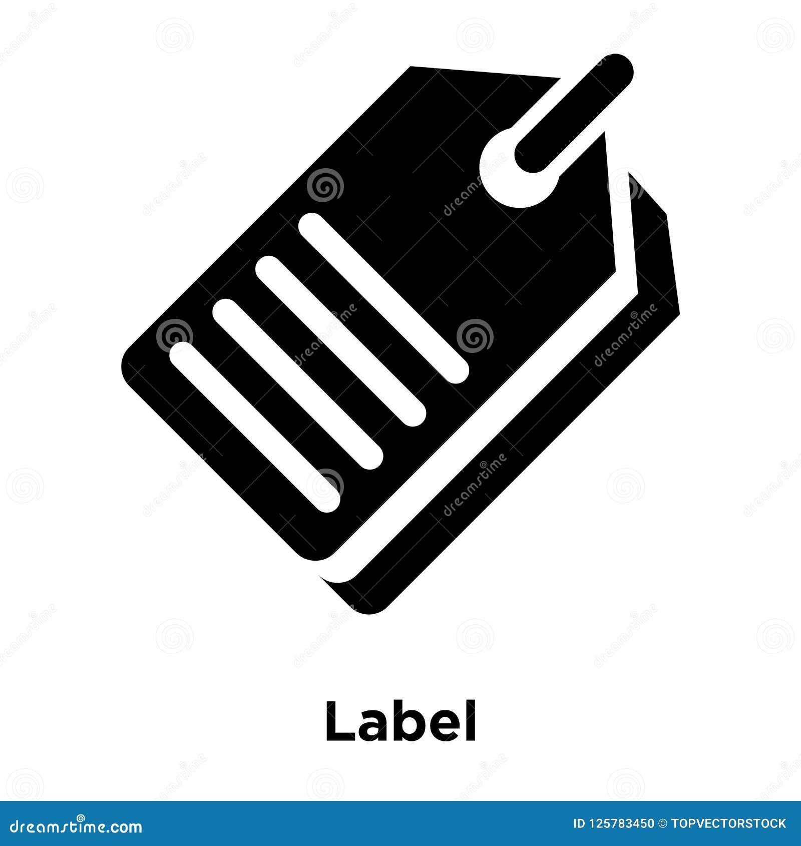 Διάνυσμα εικονιδίων ετικετών που απομονώνεται στο άσπρο υπόβαθρο, έννοια λογότυπων