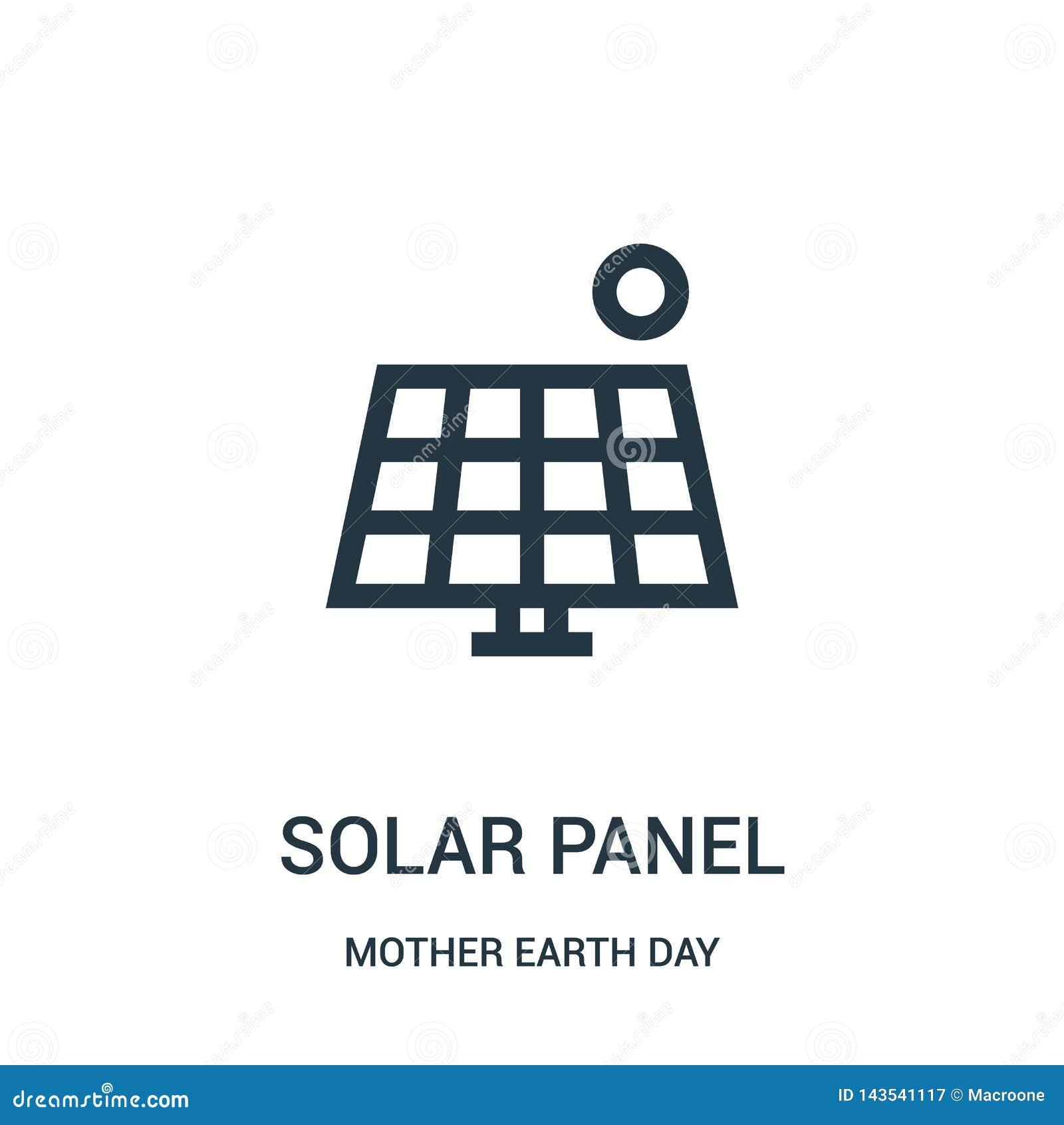 διάνυσμα εικονιδίων ηλιακών πλαισίων από τη συλλογή γήινης ημέρας μητέρων Λεπτή διανυσματική απεικόνιση εικονιδίων περιλήψεων ηλι