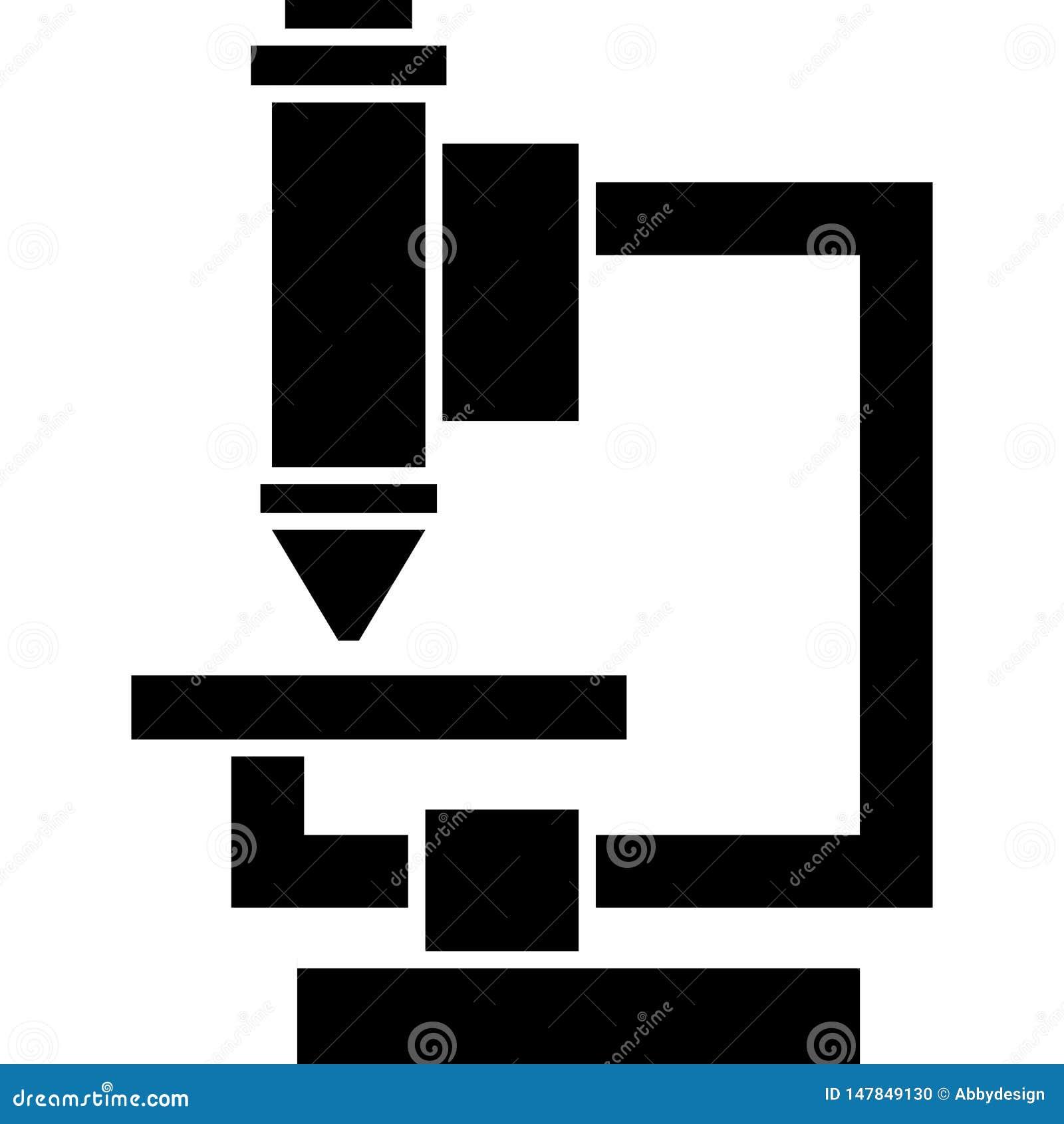 Διάνυσμα εικονιδίων μικροσκοπίων