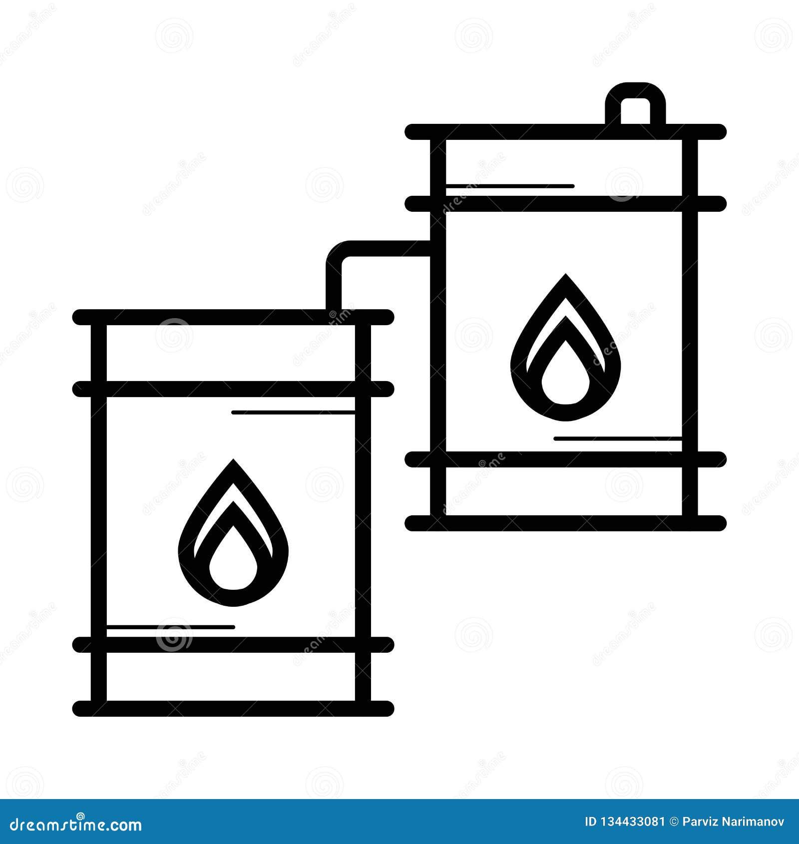 Διάνυσμα εικονιδίων πετρελαίου βαρελιών