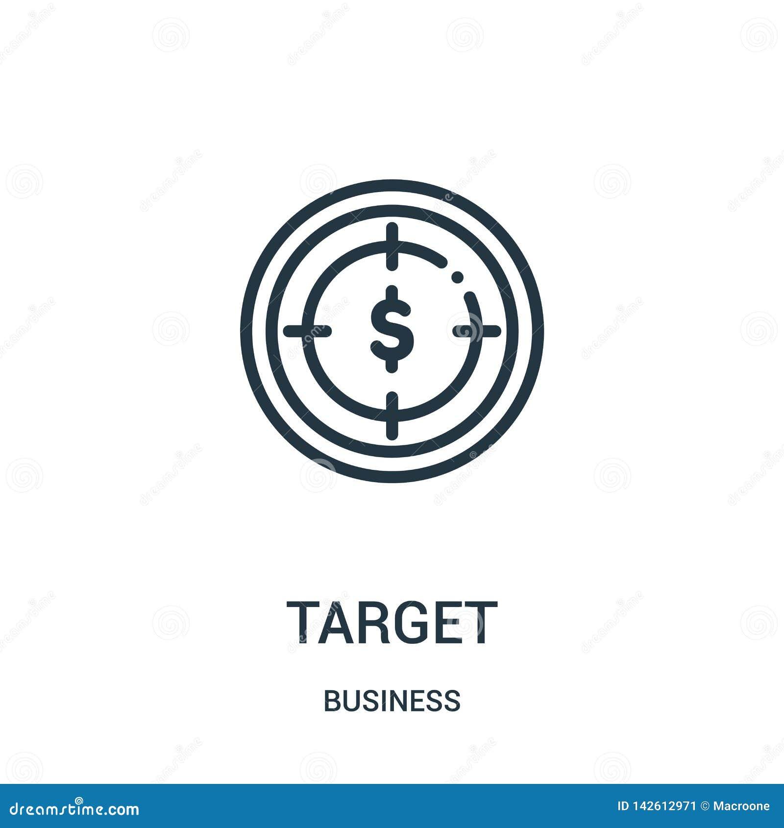 διάνυσμα εικονιδίων στόχων από την επιχειρησιακή συλλογή Λεπτή διανυσματική απεικόνιση εικονιδίων περιλήψεων στόχων γραμμών r