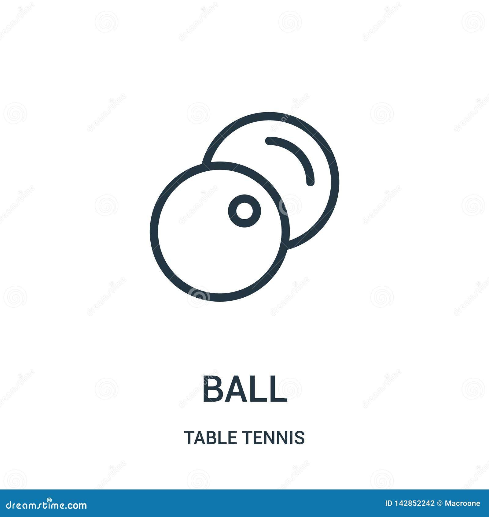 διάνυσμα εικονιδίων σφαιρών από τη συλλογή επιτραπέζιας αντισφαίρισης Λεπτή διανυσματική απεικόνιση εικονιδίων περιλήψεων σφαιρών