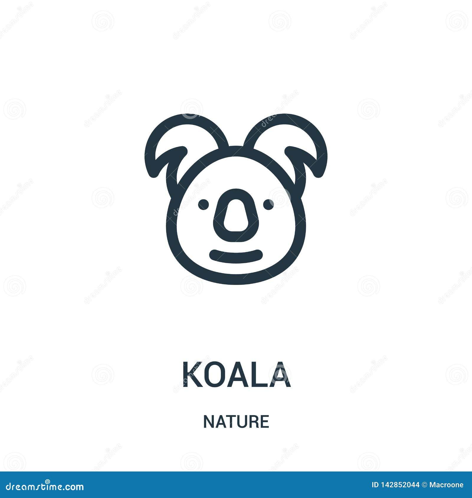 διάνυσμα εικονιδίων koala από τη συλλογή φύσης Λεπτή διανυσματική απεικόνιση εικονιδίων περιλήψεων koala γραμμών Γραμμικό σύμβολο