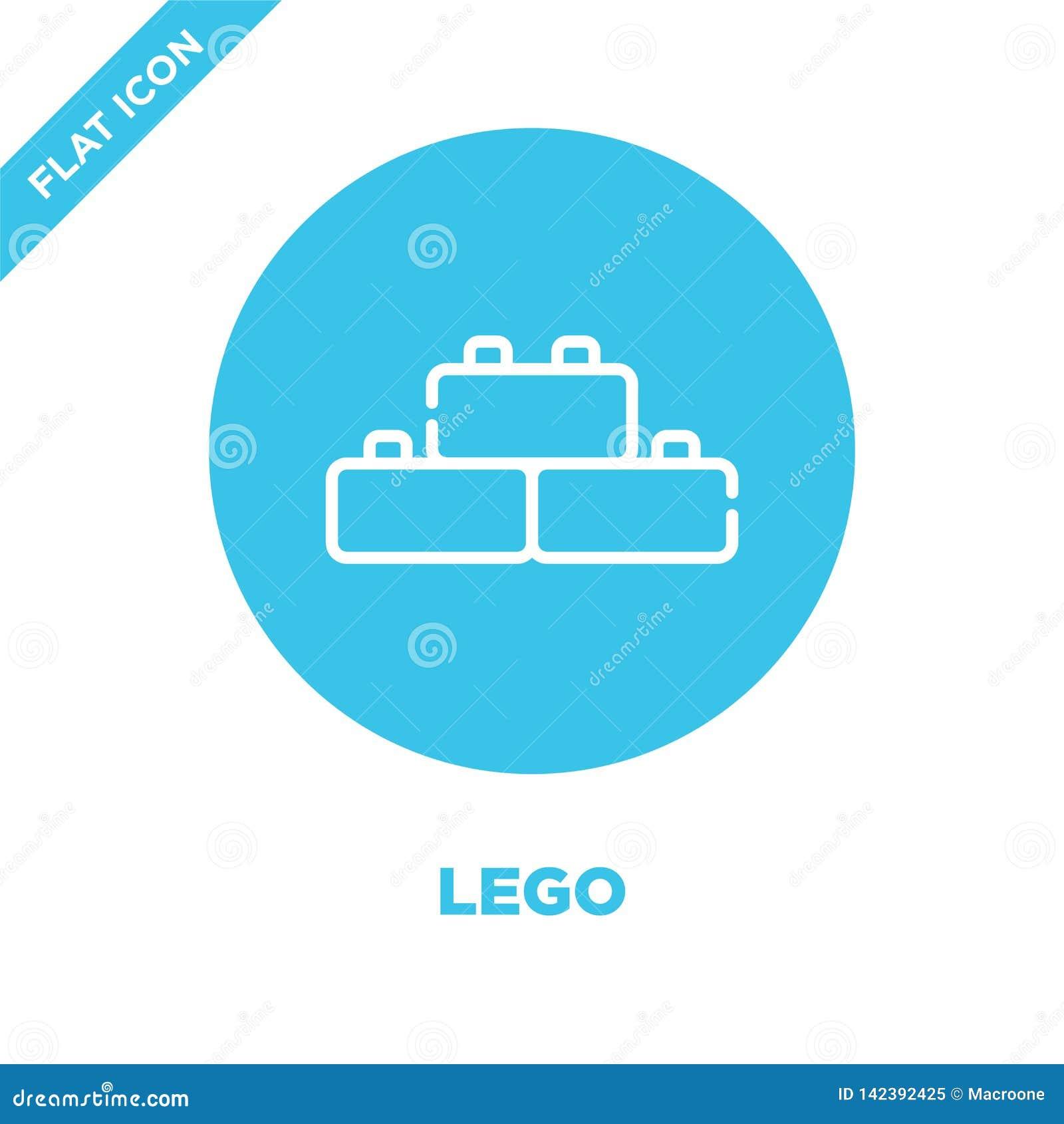 διάνυσμα εικονιδίων lego από τη συλλογή παιχνιδιών μωρών Λεπτή διανυσματική απεικόνιση εικονιδίων περιλήψεων lego γραμμών Γραμμικ