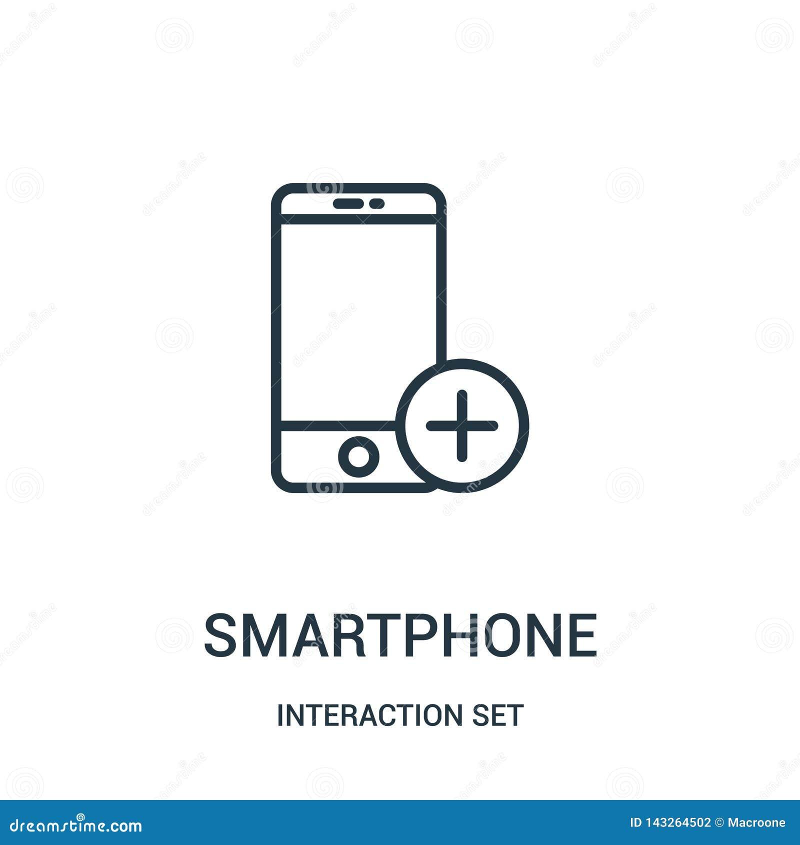 διάνυσμα εικονιδίων smartphone από την καθορισμένη συλλογή αλληλεπίδρασης r