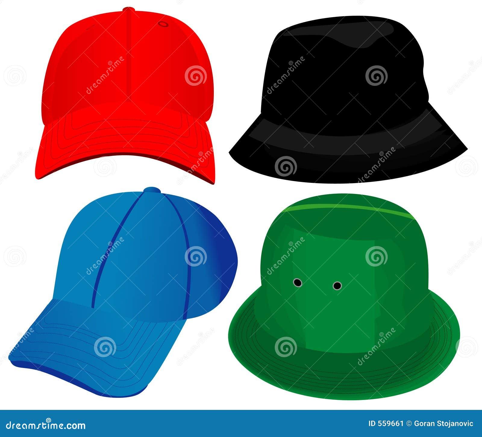 διάνυσμα καπέλων