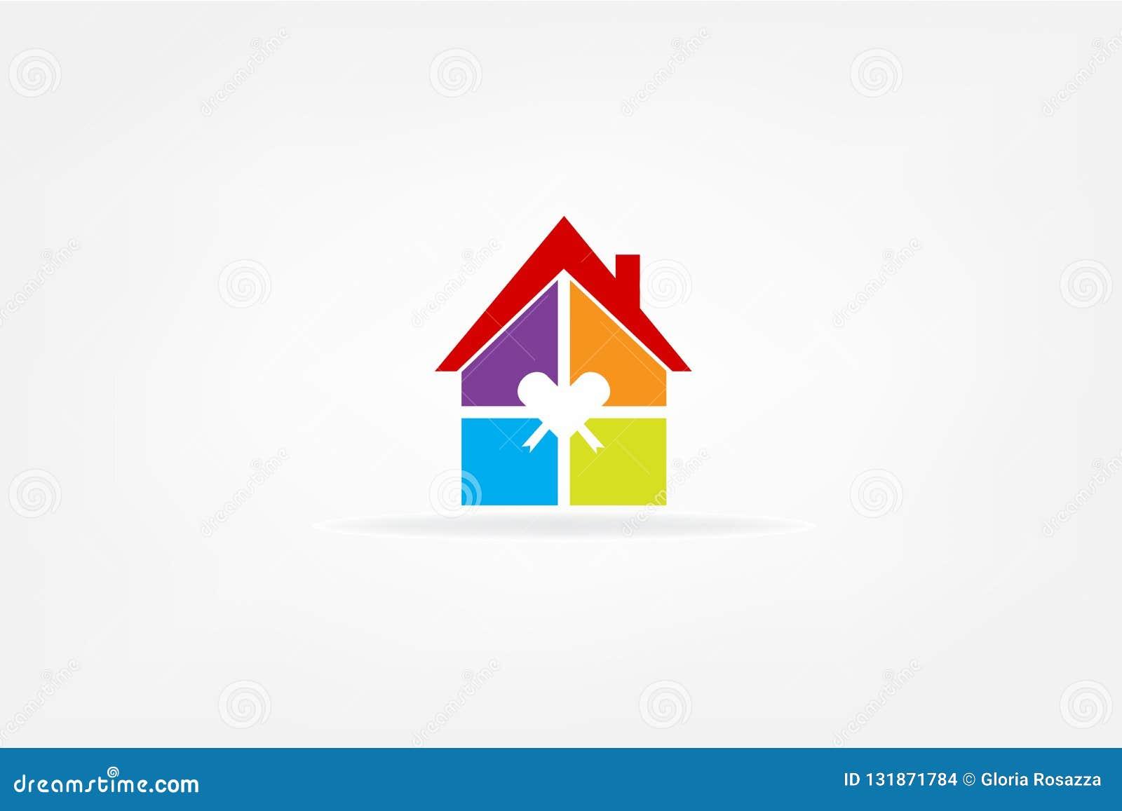 Διάνυσμα λογότυπων ακίνητων περιουσιών σπιτιών