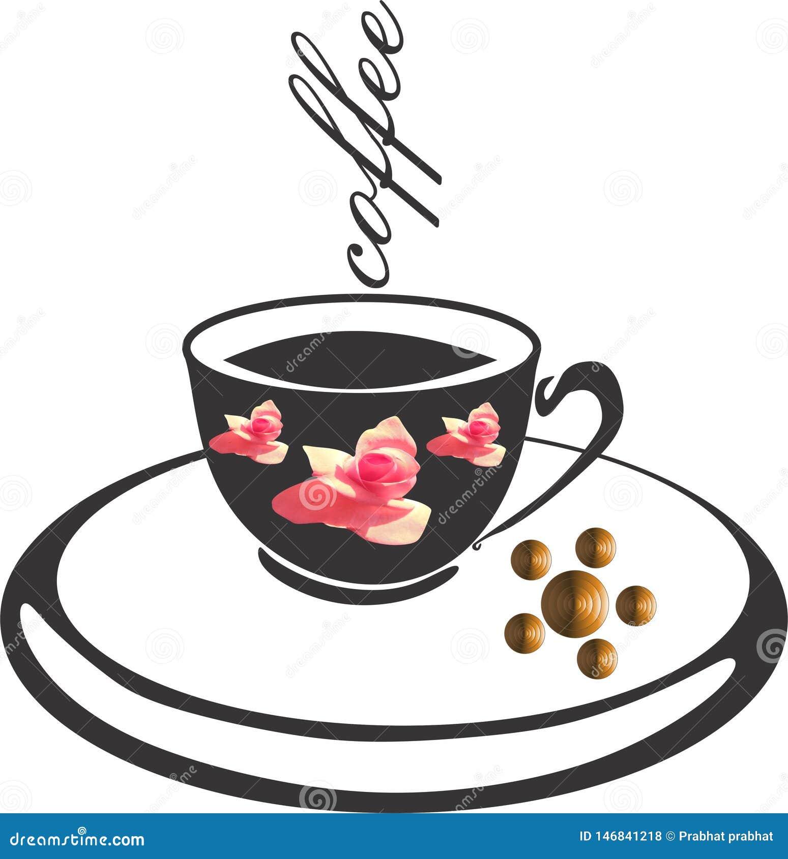 Διάνυσμα λογότυπων καφέ backgroung