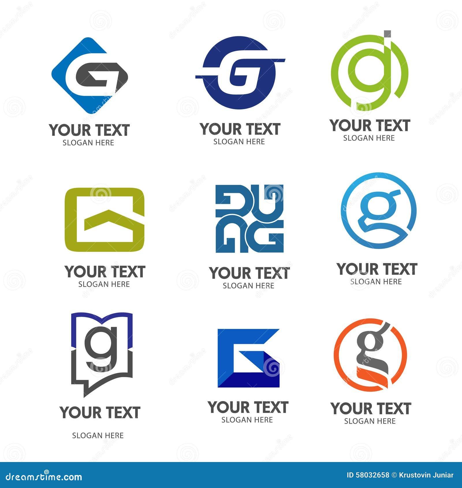Διάνυσμα λογότυπων γραμμάτων Γ
