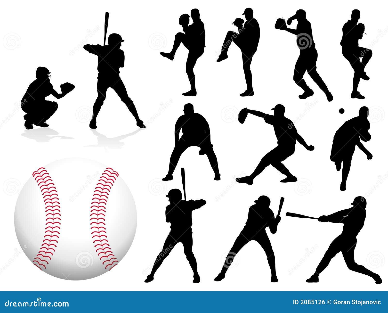 διάνυσμα παιχτών του μπέιζμπολ