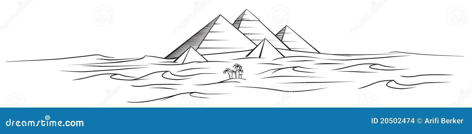 διάνυσμα πυραμίδων της Αι&ga