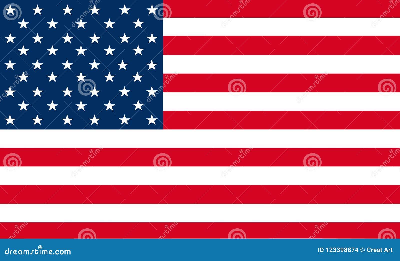διάνυσμα σημαιών των Ηνωμένων Πολιτειών της Αμερικής Απεικόνιση αμερικανικού εθνικού