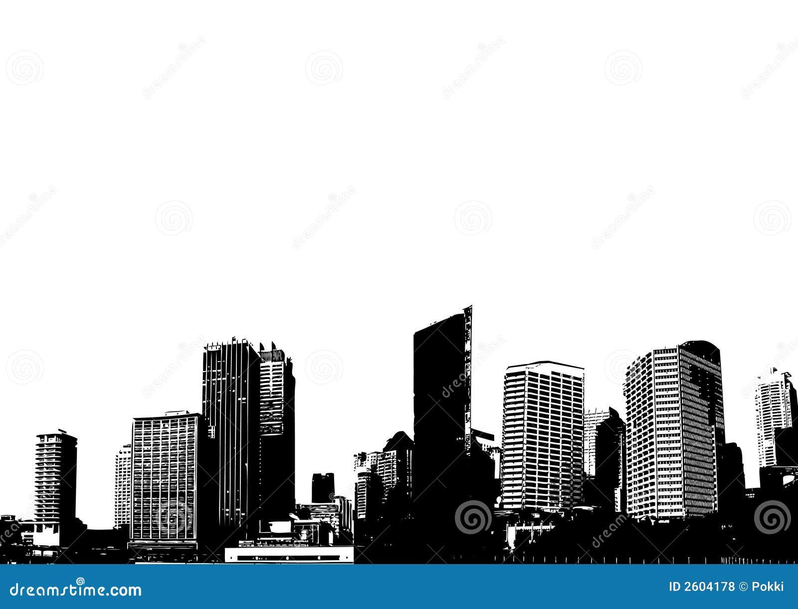διάνυσμα σκιαγραφιών πόλε