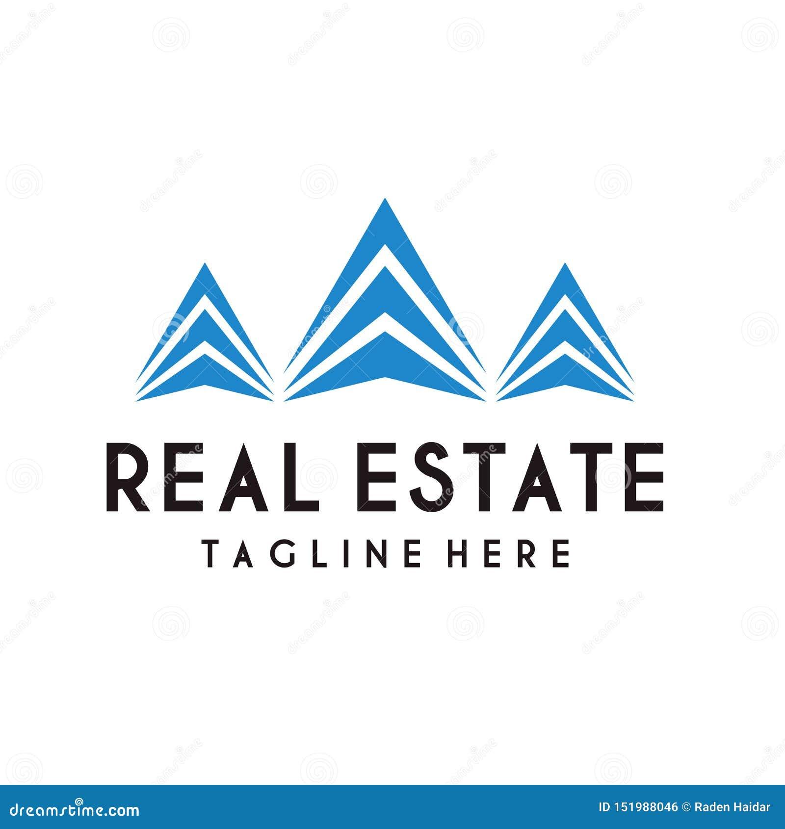 Διάνυσμα σχεδίου λογότυπων ακίνητων περιουσιών