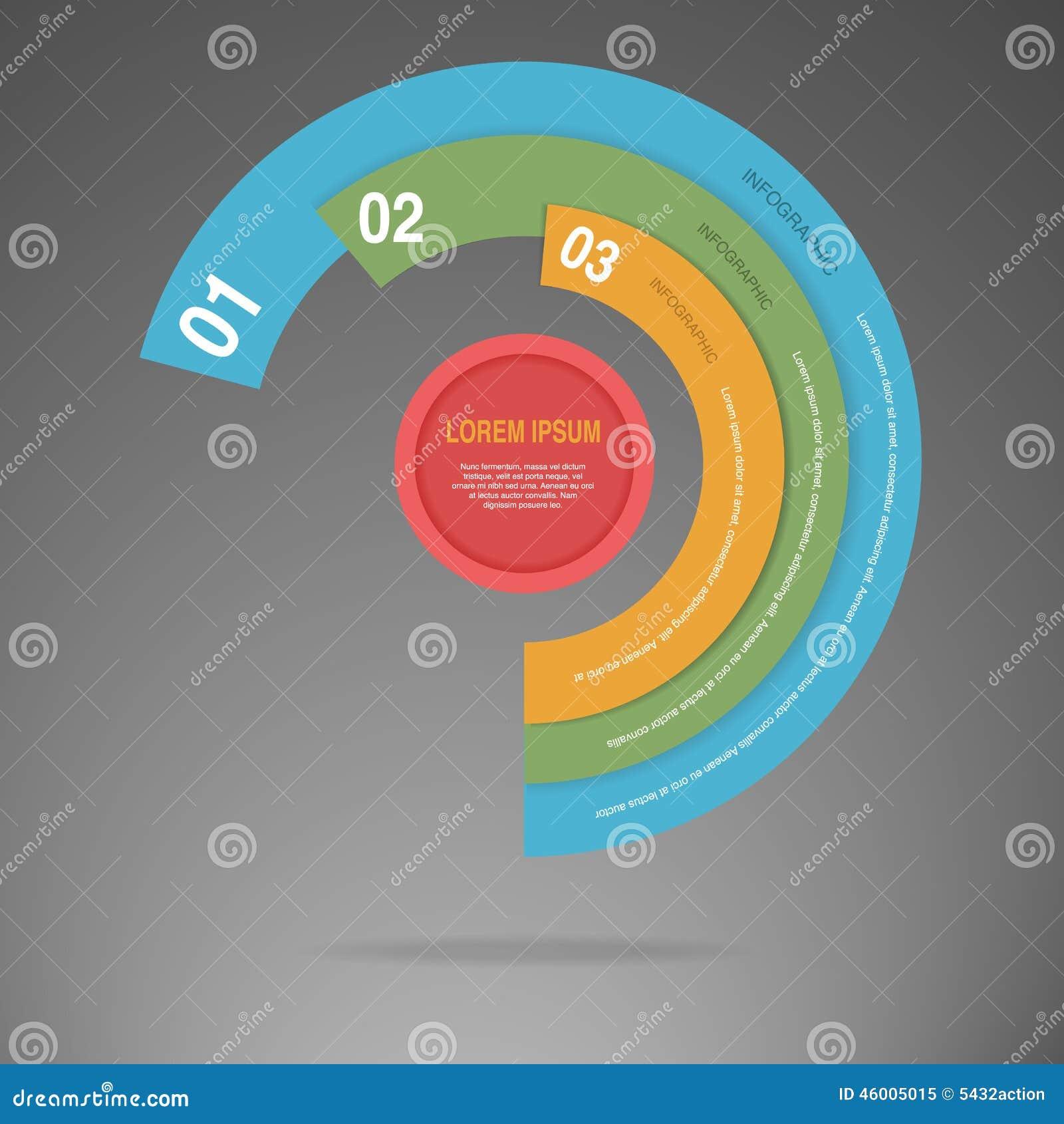 Διάνυσμα του γραφικού σχεδιαγράμματος ύφους κύκλων επιχειρησιακών πληροφοριών
