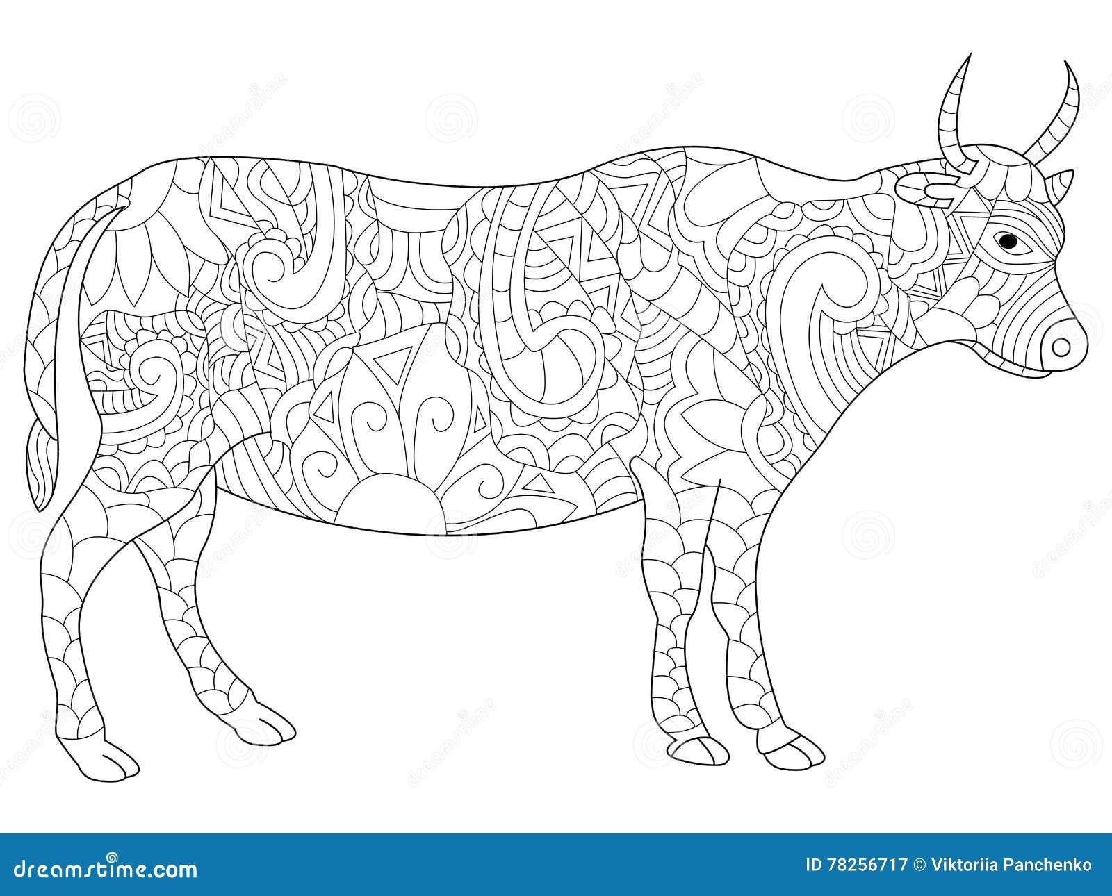Διάνυσμα χρωματισμού αγελάδων για τους ενηλίκους