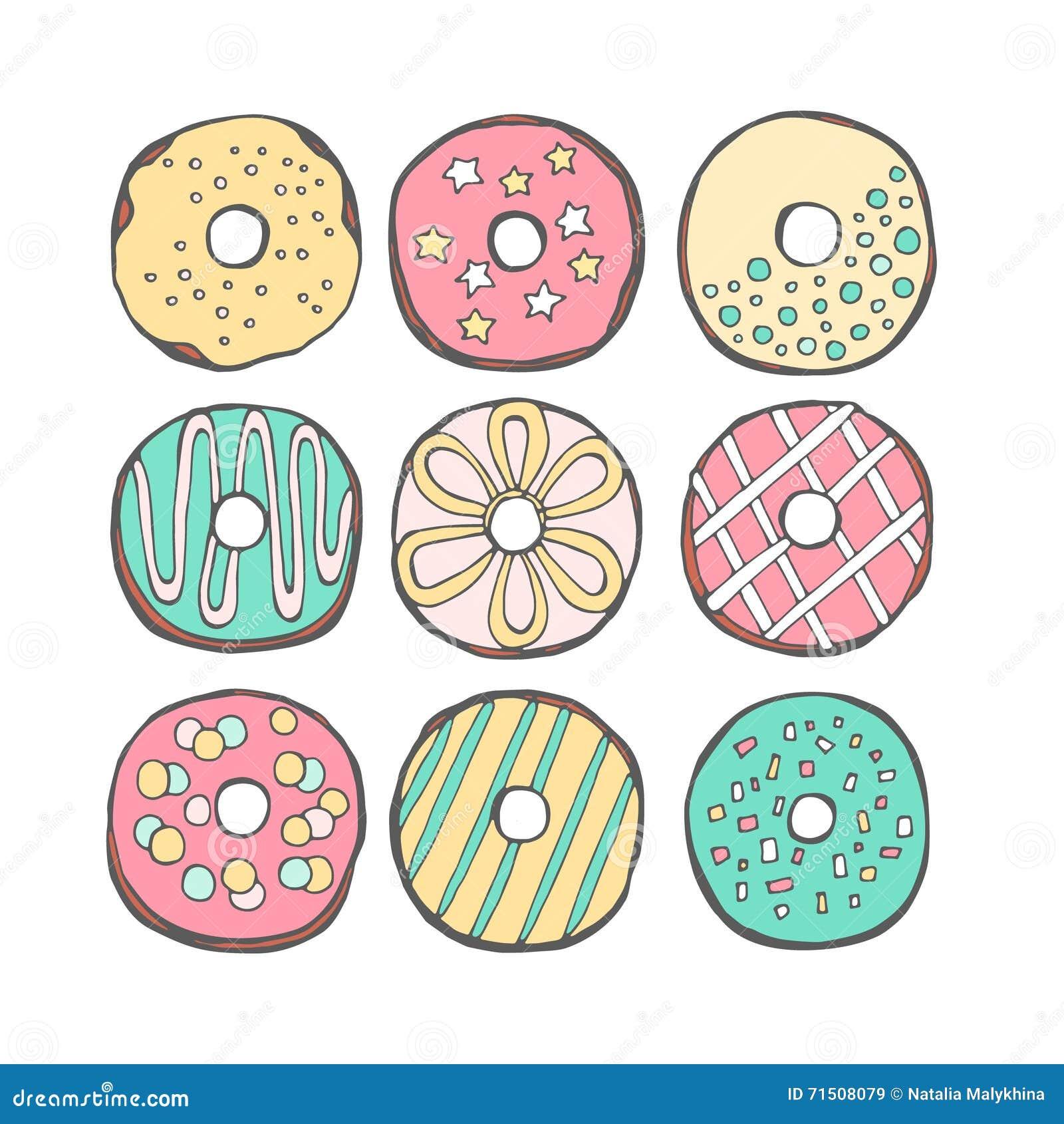 Διάνυσμα donuts χαριτωμένο