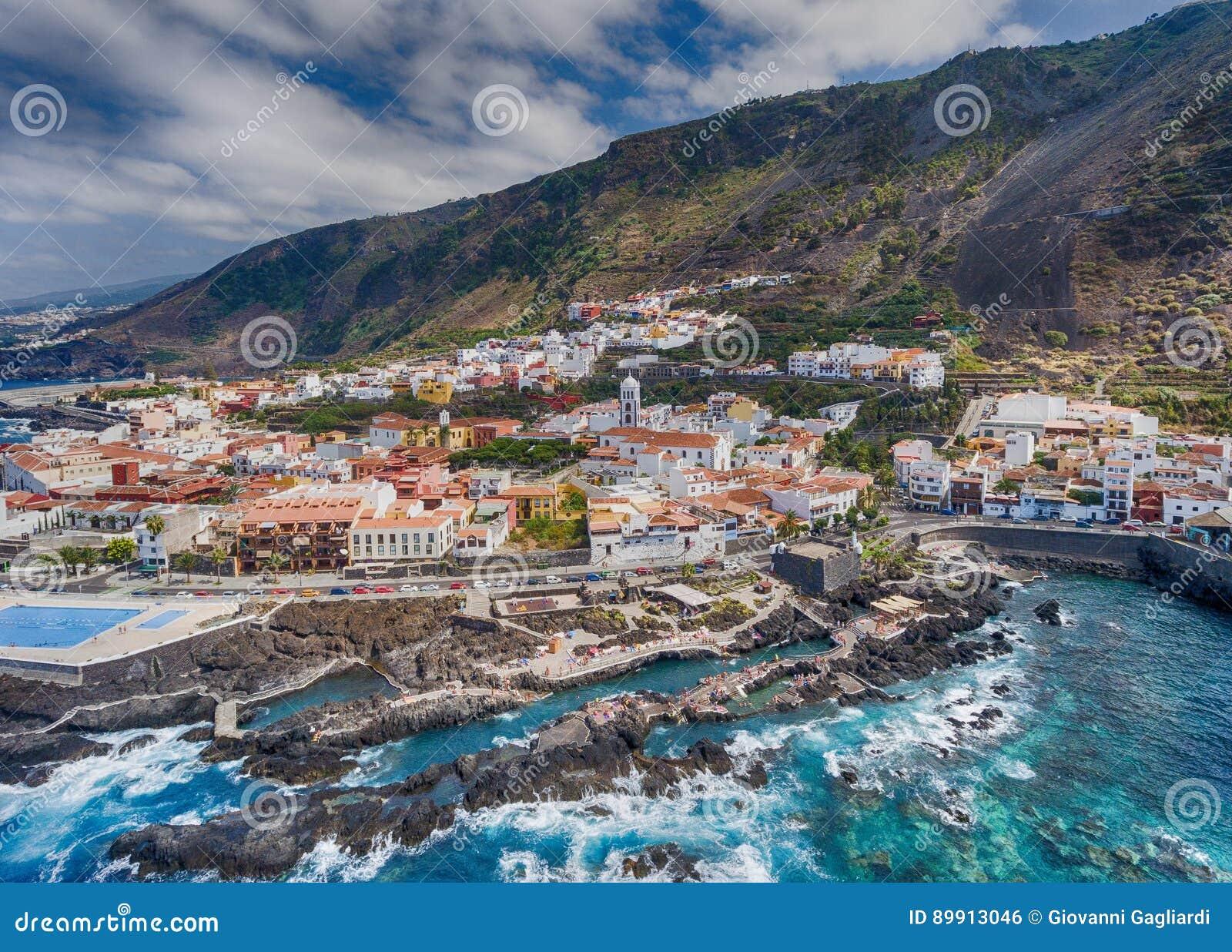 Διάσημες Garachico λίμνες Tenerife, Κανάρια νησιά - Ισπανία