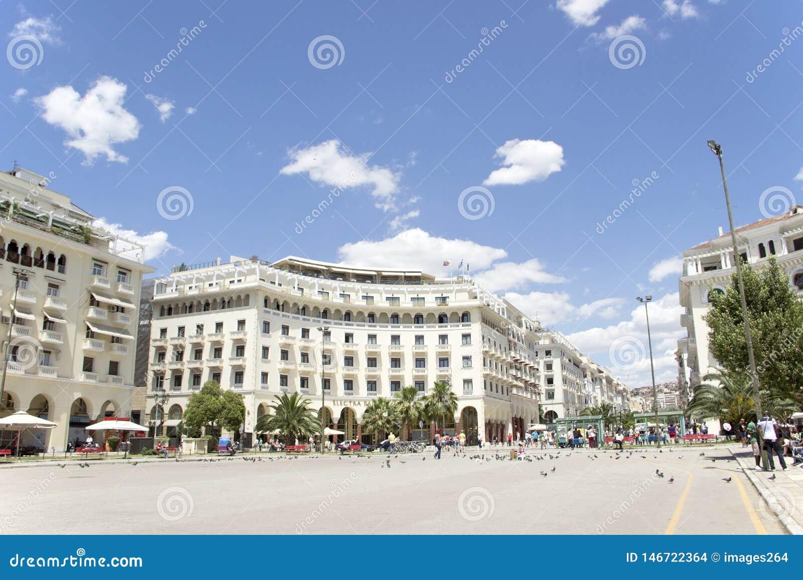 Διάσημη πλατεία Aristotelous σε Θεσσαλονίκη, Ελλάδα - μπορέστε το 2013