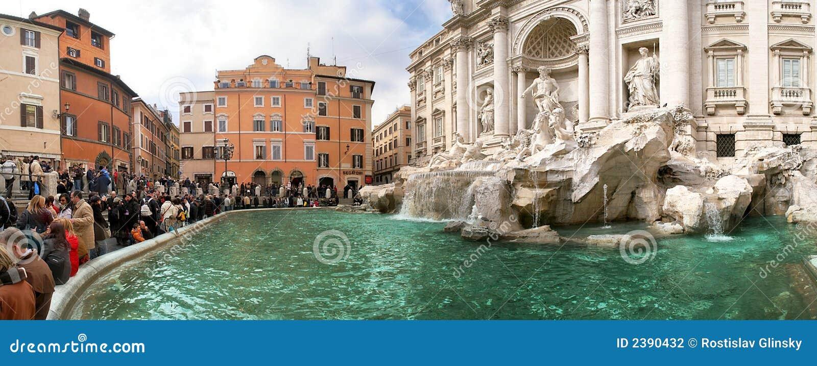 διάσημη όψη TREVI της Ρώμης πηγών πα