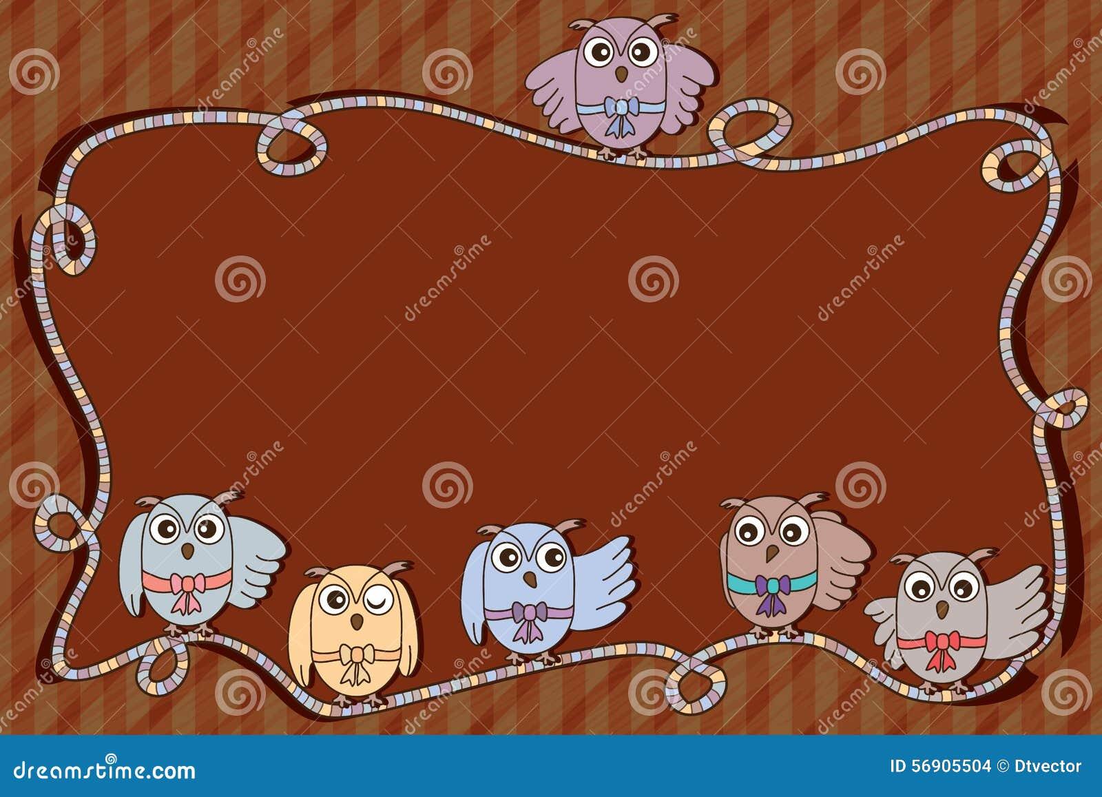 Διάστημα πλαισίων κορδελλών κουκουβαγιών