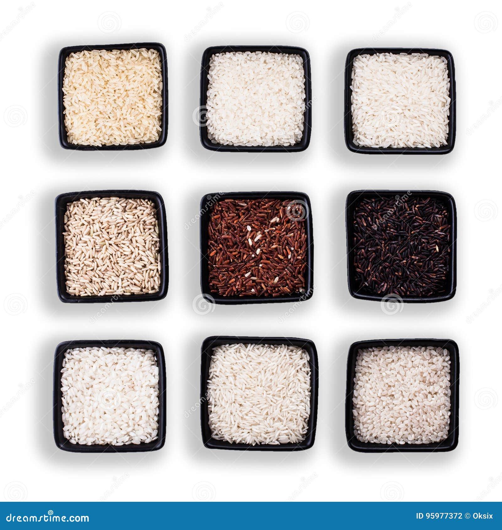 Διάφοροι τύποι ρυζιών