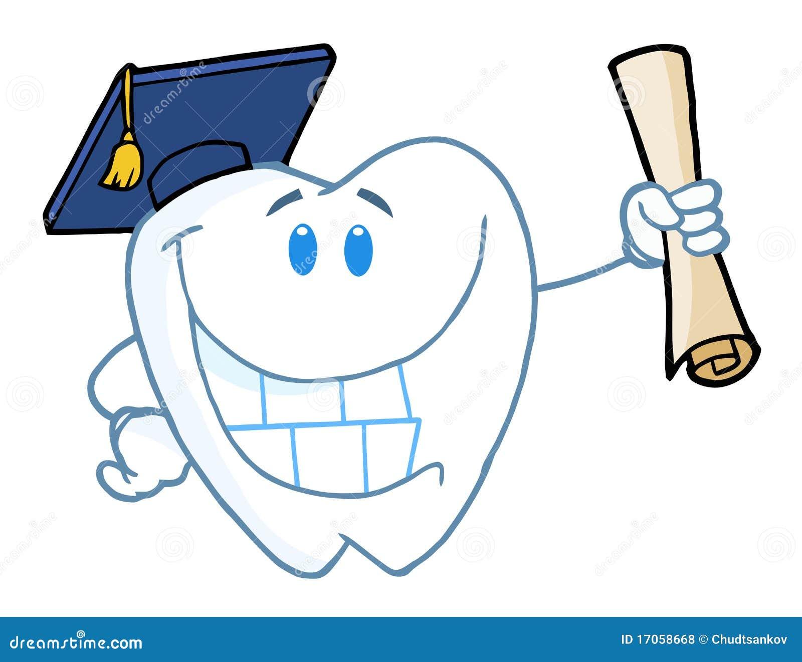 Διαβαθμισμένο δόντι που κρατά ένα δίπλωμα