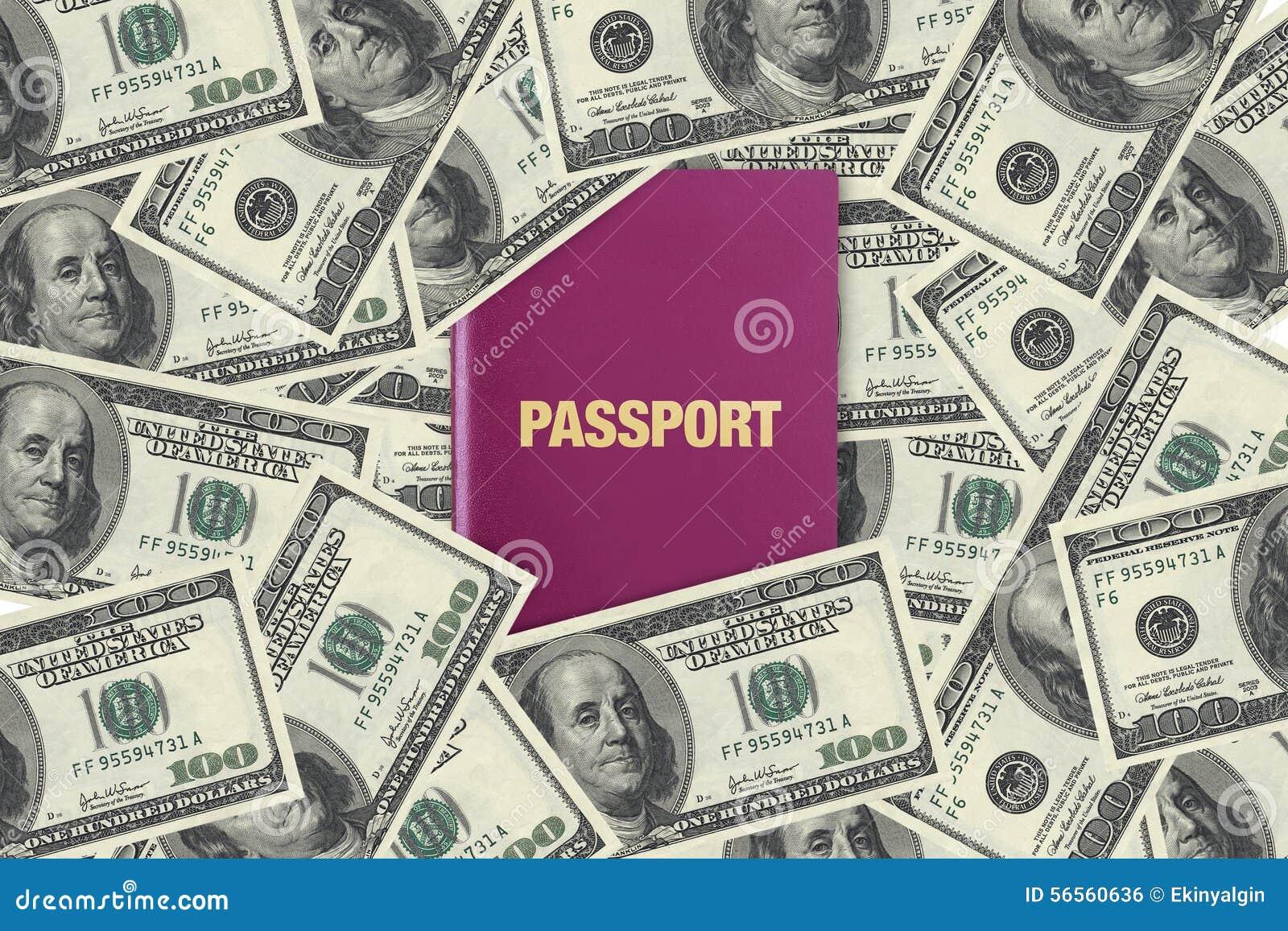 Download Διαβατήριο στα τραπεζογραμμάτια δολαρίων Στοκ Εικόνες - εικόνα από ψυχαγωγία, franklin: 56560636