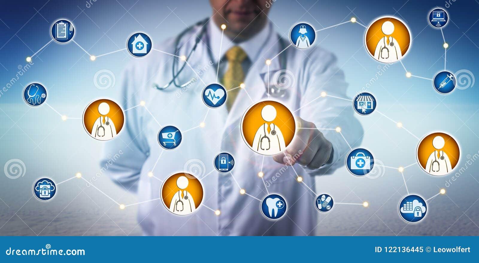 Διαβούλευση γιατρών μέσω του δικτύου γιατρός--νοσοκομειακών γιατρών