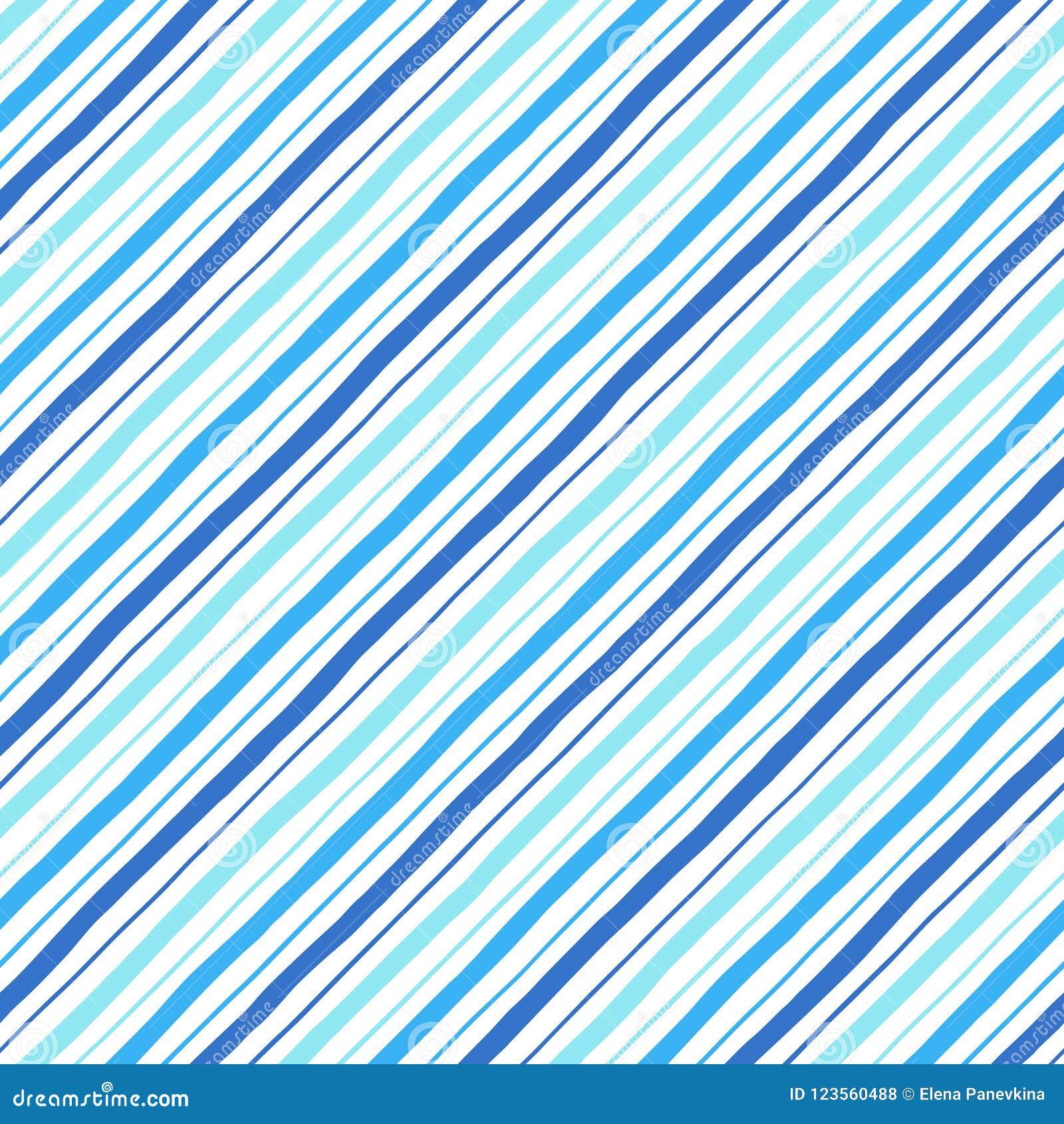 Διαγώνιο παράλληλο doodle άνευ ραφής σχέδιο λωρίδων ύφους μπλε