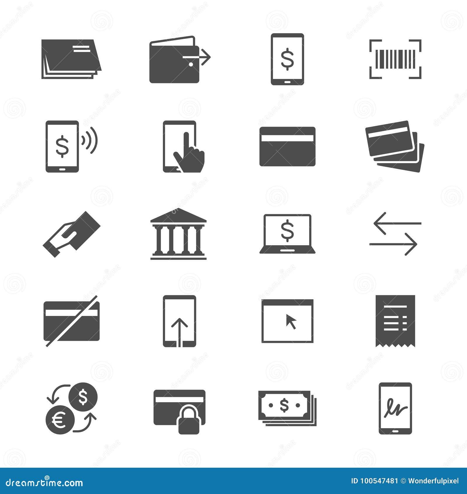 Διαδίκτυο που καταθέτει τα επίπεδα εικονίδια σε τράπεζα