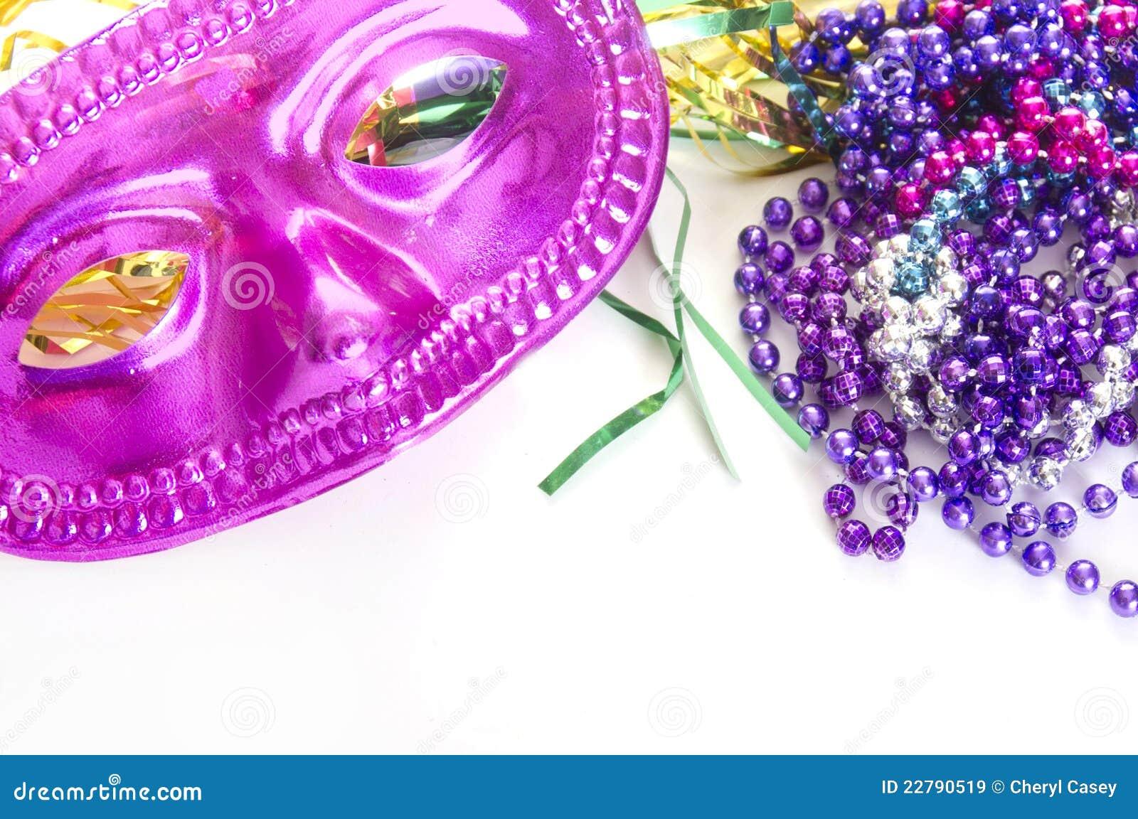 διακοσμεί carnivale τη μάσκα με χάντρες
