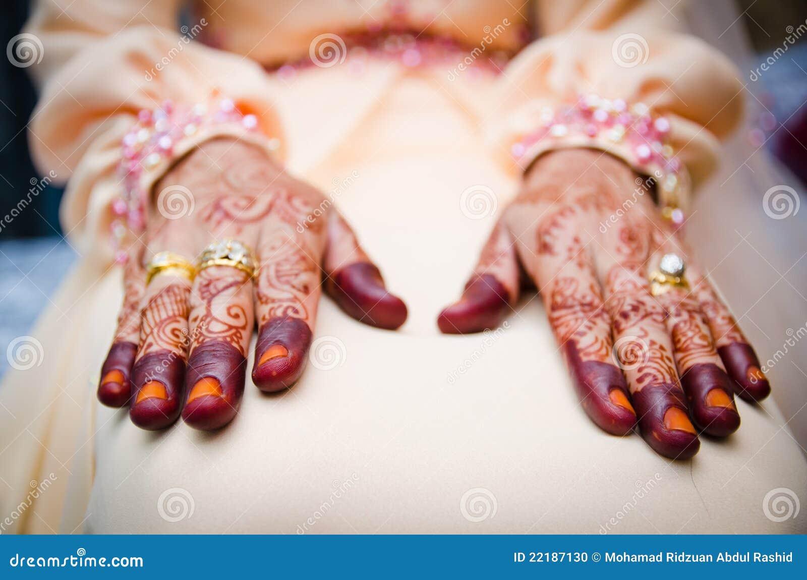 διακοσμημένο henna χεριών