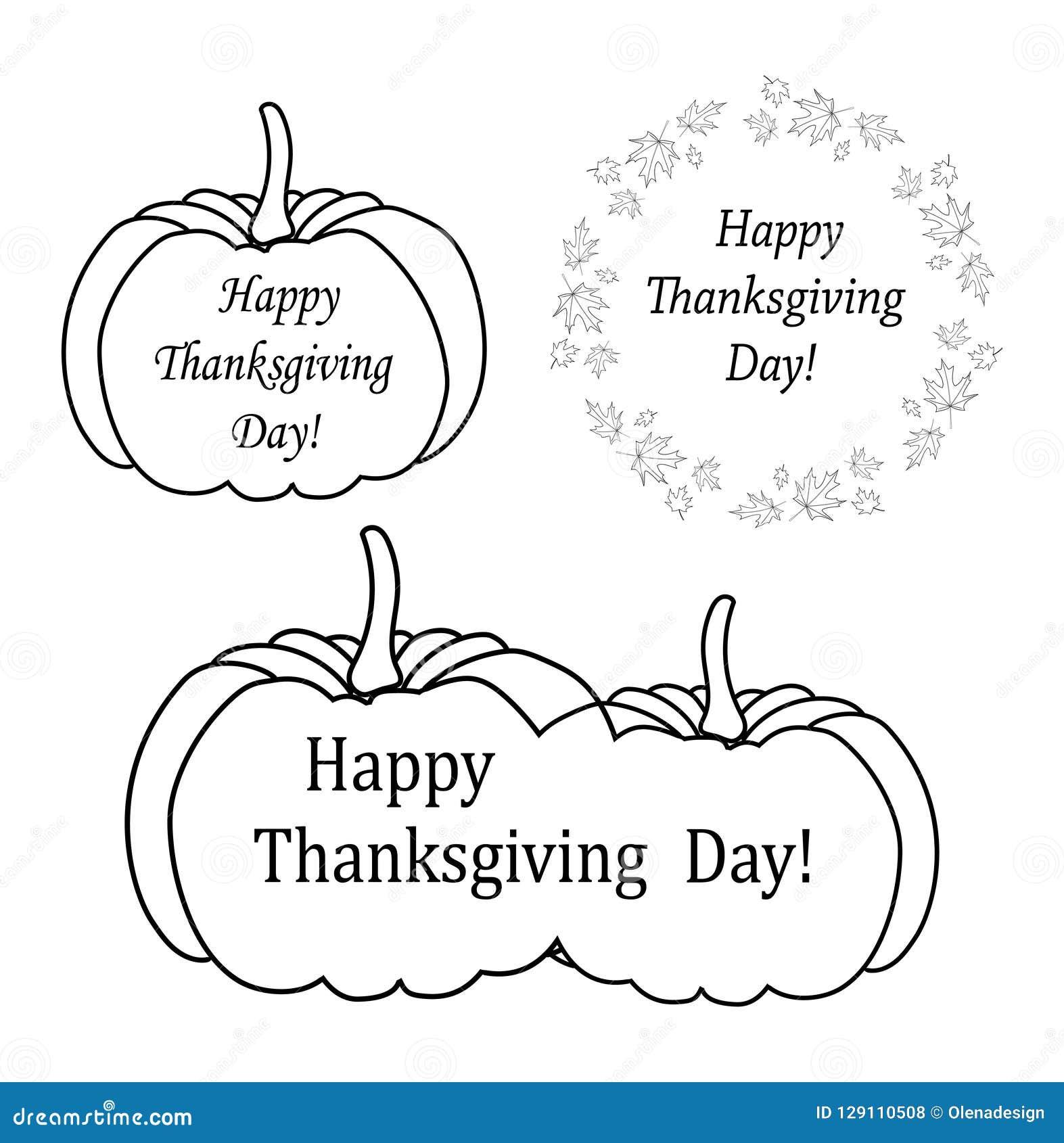 Διακοσμητικά στοιχεία σχεδίου για την ημέρα των ευχαριστιών - διάνυσμα