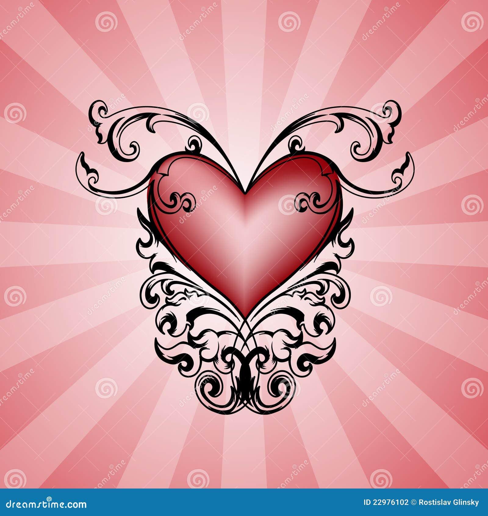 διακοσμητικό ροζ καρδιών ανασκόπησης