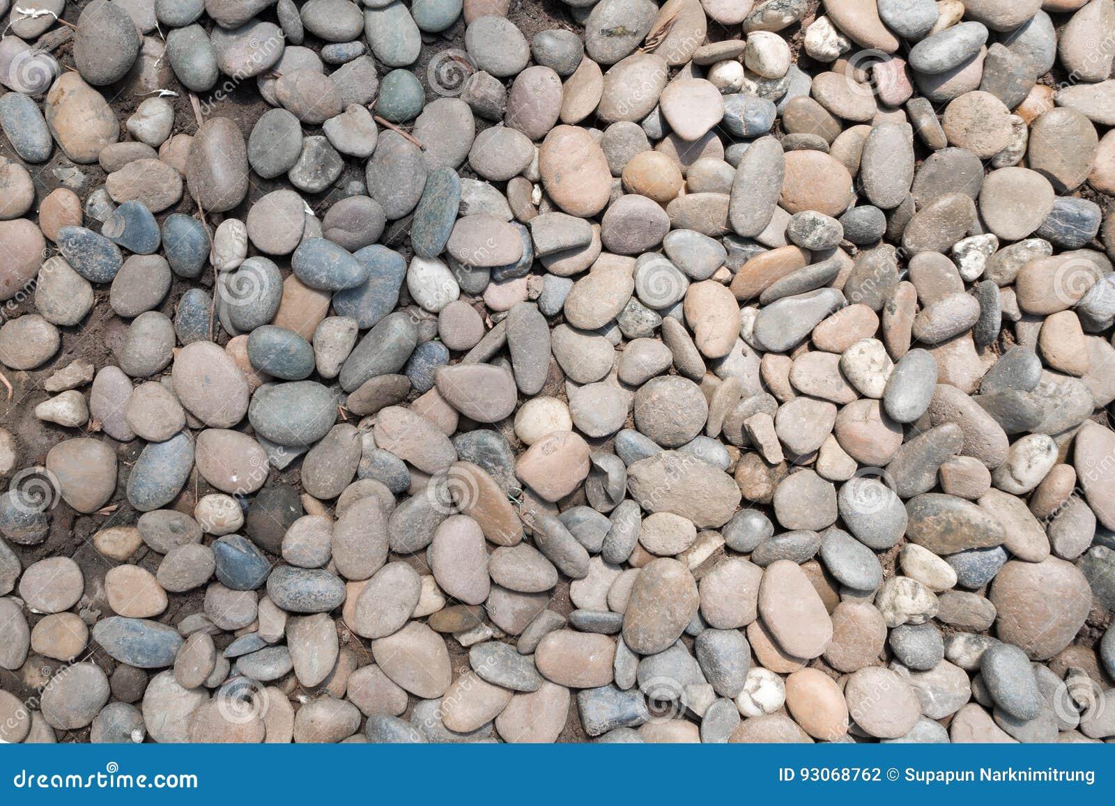 Διακοσμητικό υπόβαθρο χαλικιών πετρών στρογγυλός κήπος σύστασης αμμοχάλικου
