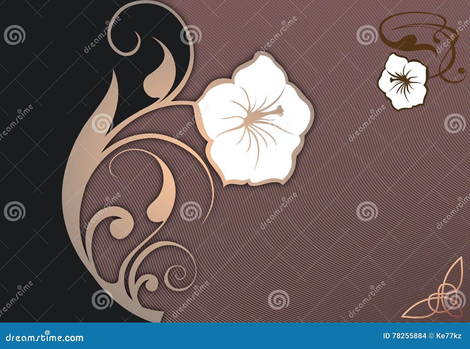 Διακοσμητικό floral υπόβαθρο με το διάστημα για το κείμενο