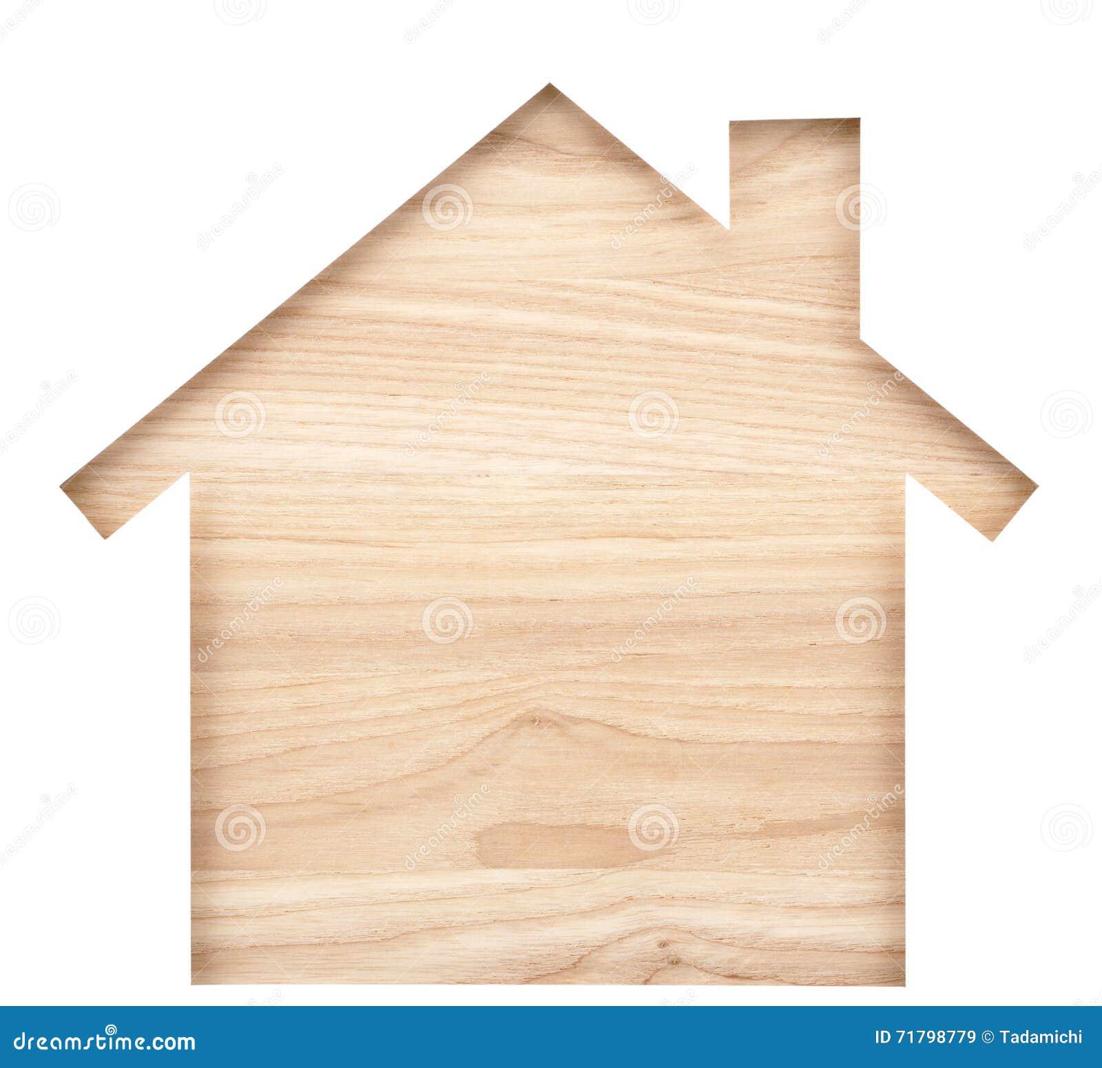 Διαμορφωμένη σπίτι διακοπή εγγράφου στη φυσική ξύλινη ξυλεία