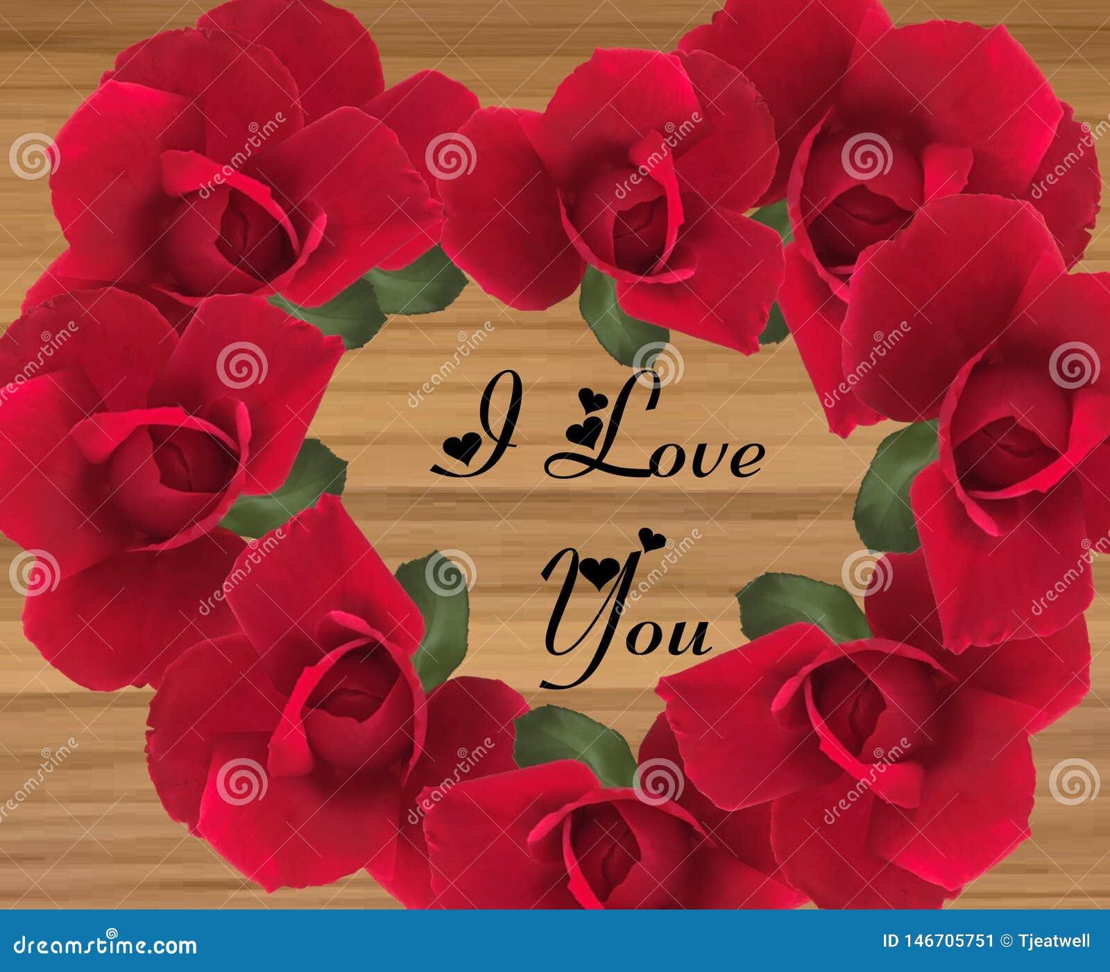 Διαμορφωμένο καρδιά μήνυμα αγάπης σε ένα ξύλινο υπόβαθρο