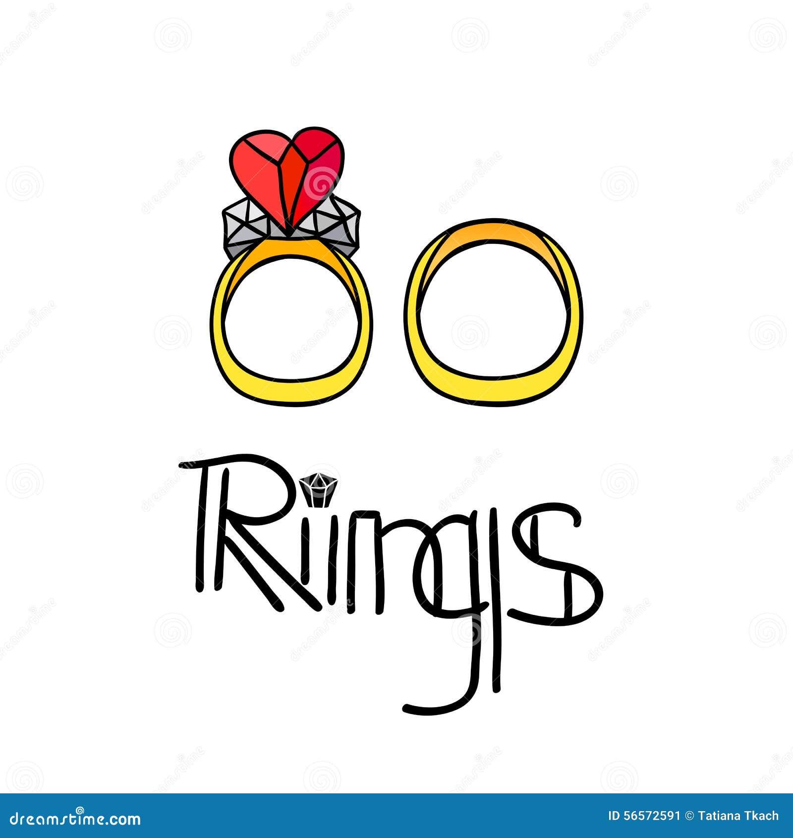 Download Διανυσματικά γαμήλια δαχτυλίδια στο άσπρο υπόβαθρο Διανυσματική απεικόνιση - εικονογραφία από εορτασμός, κάρτα: 56572591