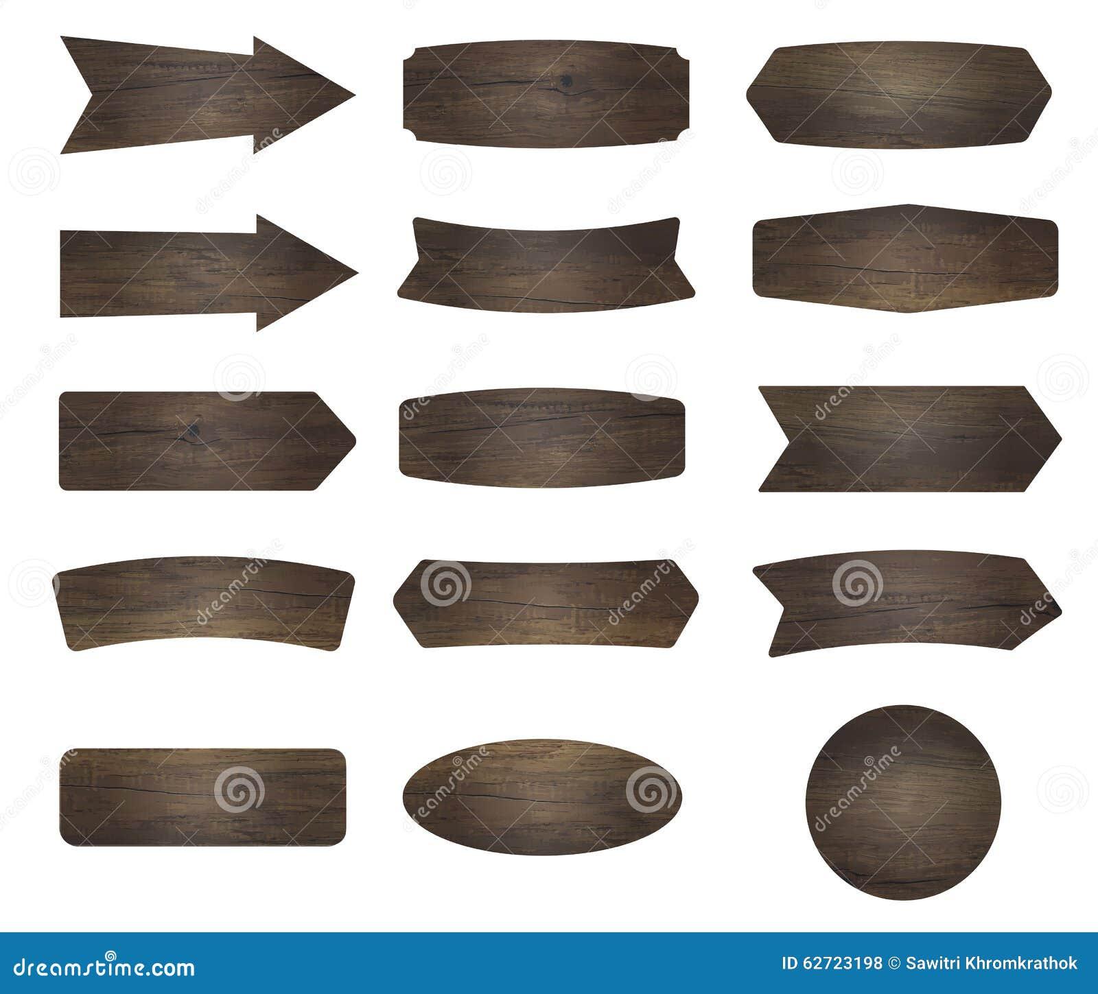 Διανυσματικά ξύλινα σημάδια