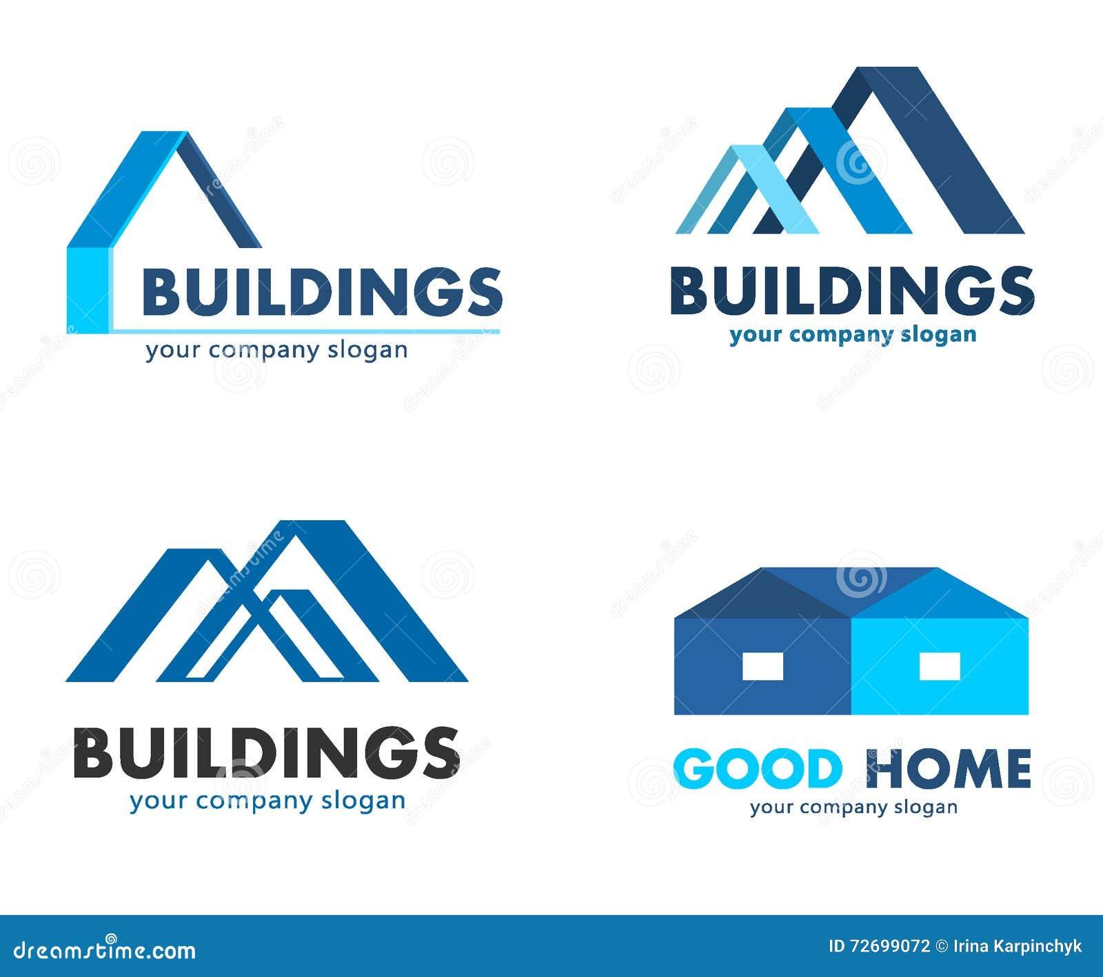 Διανυσματικά λογότυπα για τις επιχειρήσεις κατασκευής και οικοδόμησης