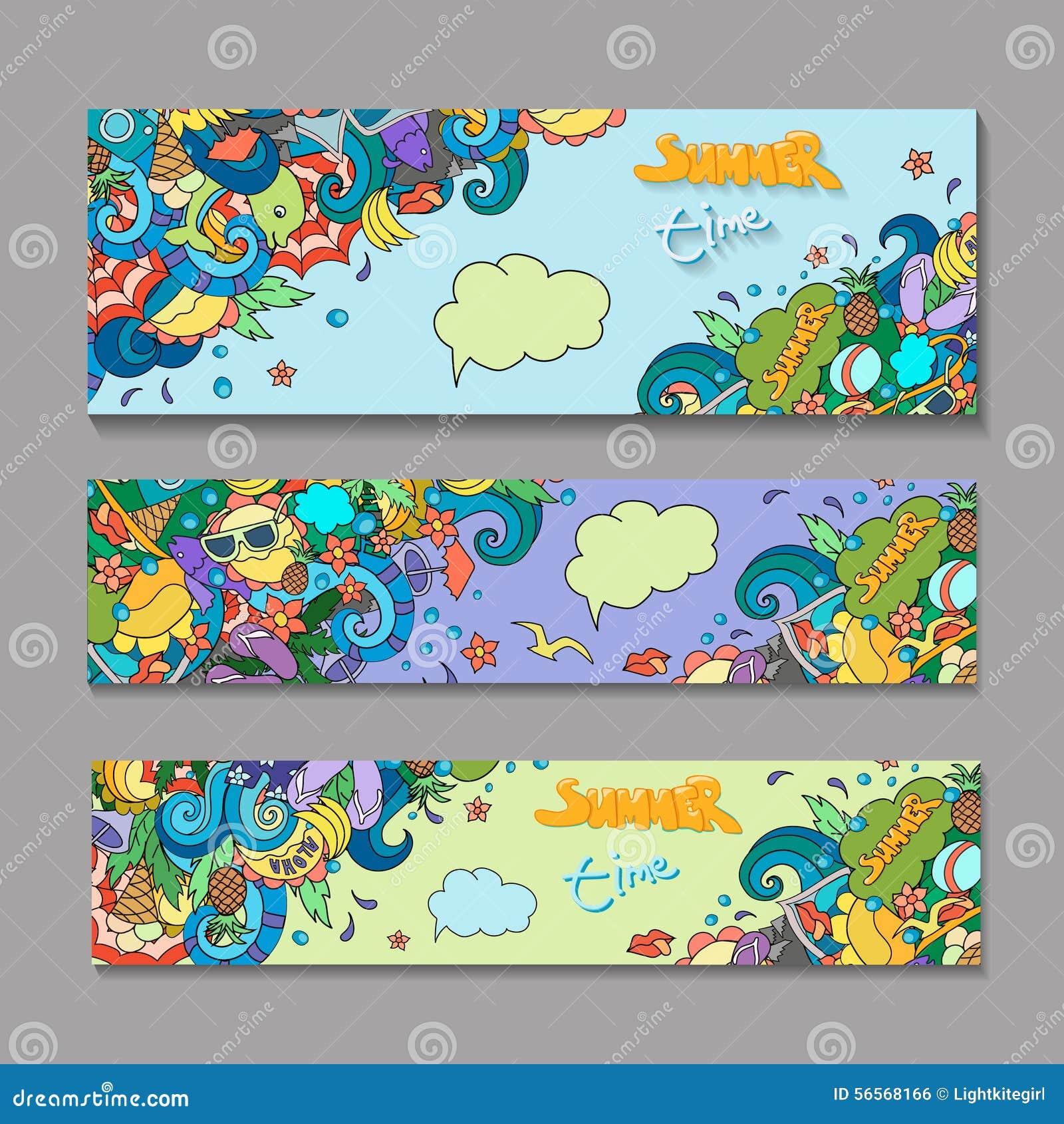 Download Διανυσματικά πρότυπα εμβλημάτων που τίθενται με το καλοκαίρι Doodles Διανυσματική απεικόνιση - εικονογραφία από οριοθετημένα, picnic: 56568166