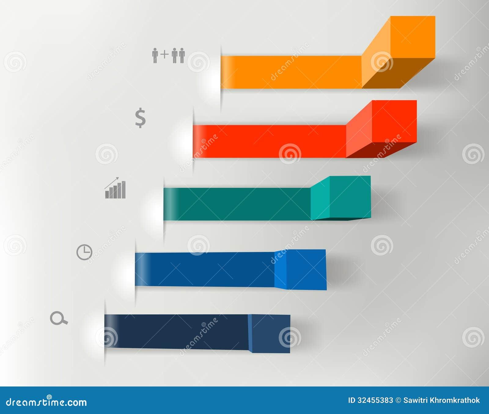 Διανυσματικά σύγχρονα επιχειρησιακά βήματα στα διαγράμματα επιτυχίας και