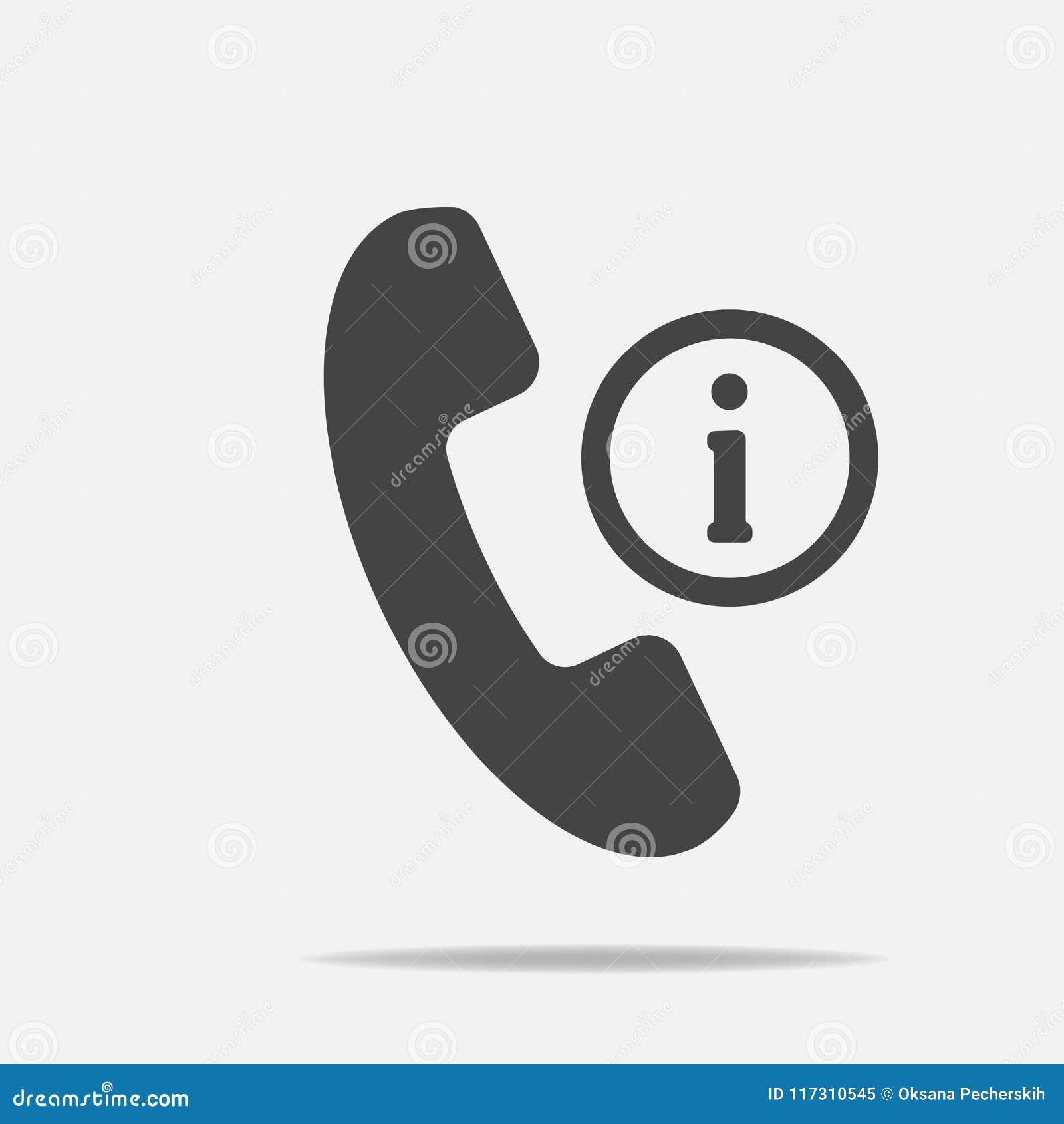 Διανυσματικές τηλεφωνικό εικονίδιο και επιστολή ι Πάρτε τις πληροφορίες βοήθειας για το phon