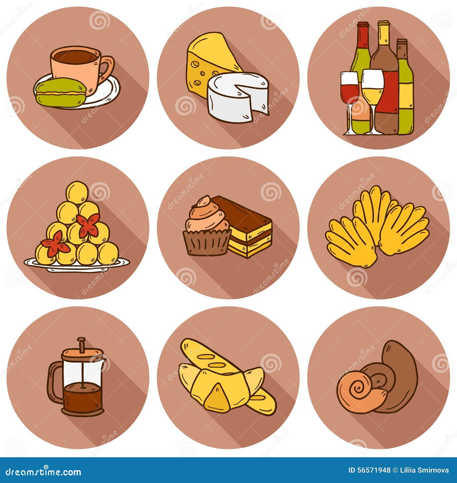 Download Διανυσματική έννοια τροφίμων με το υπόβαθρο γραμμών και Απεικόνιση αποθεμάτων - εικονογραφία από ποτό, ζυμαρικά: 56571948