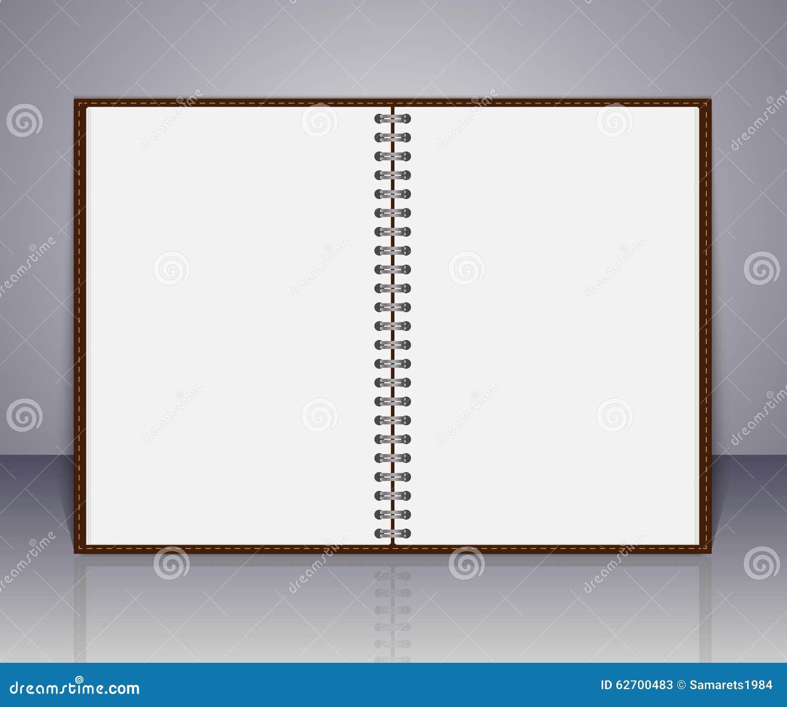 Διανυσματική ανοικτή κενή σημείωση σημειωματάριων και υπενθυμίσεων