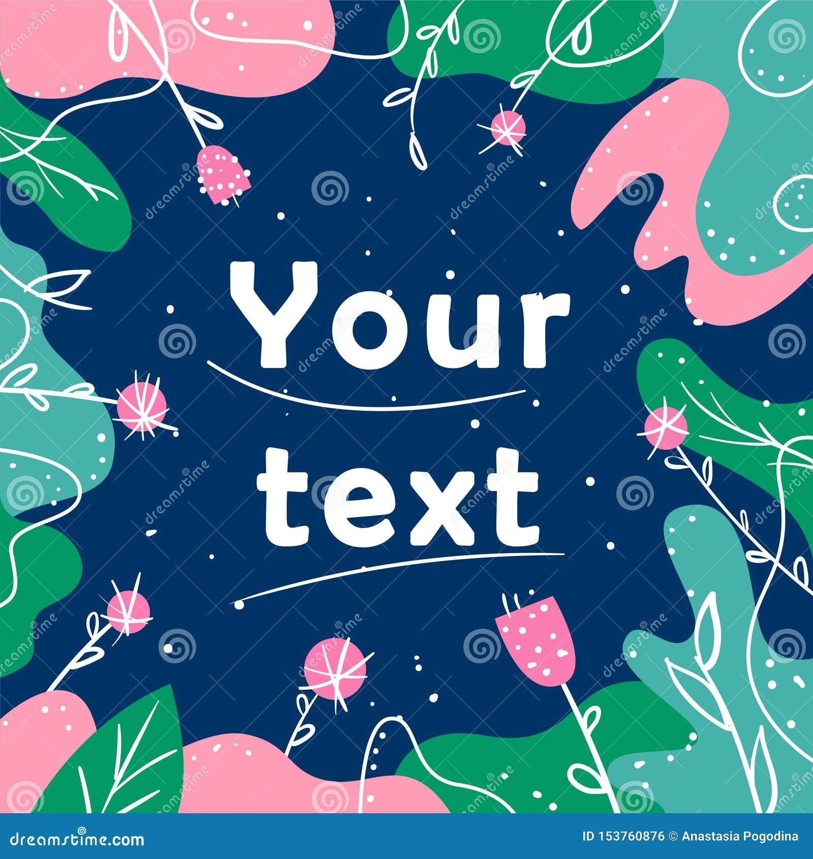 Διανυσματική απεικόνιση για το κείμενο και τα κοινωνικά μέσα