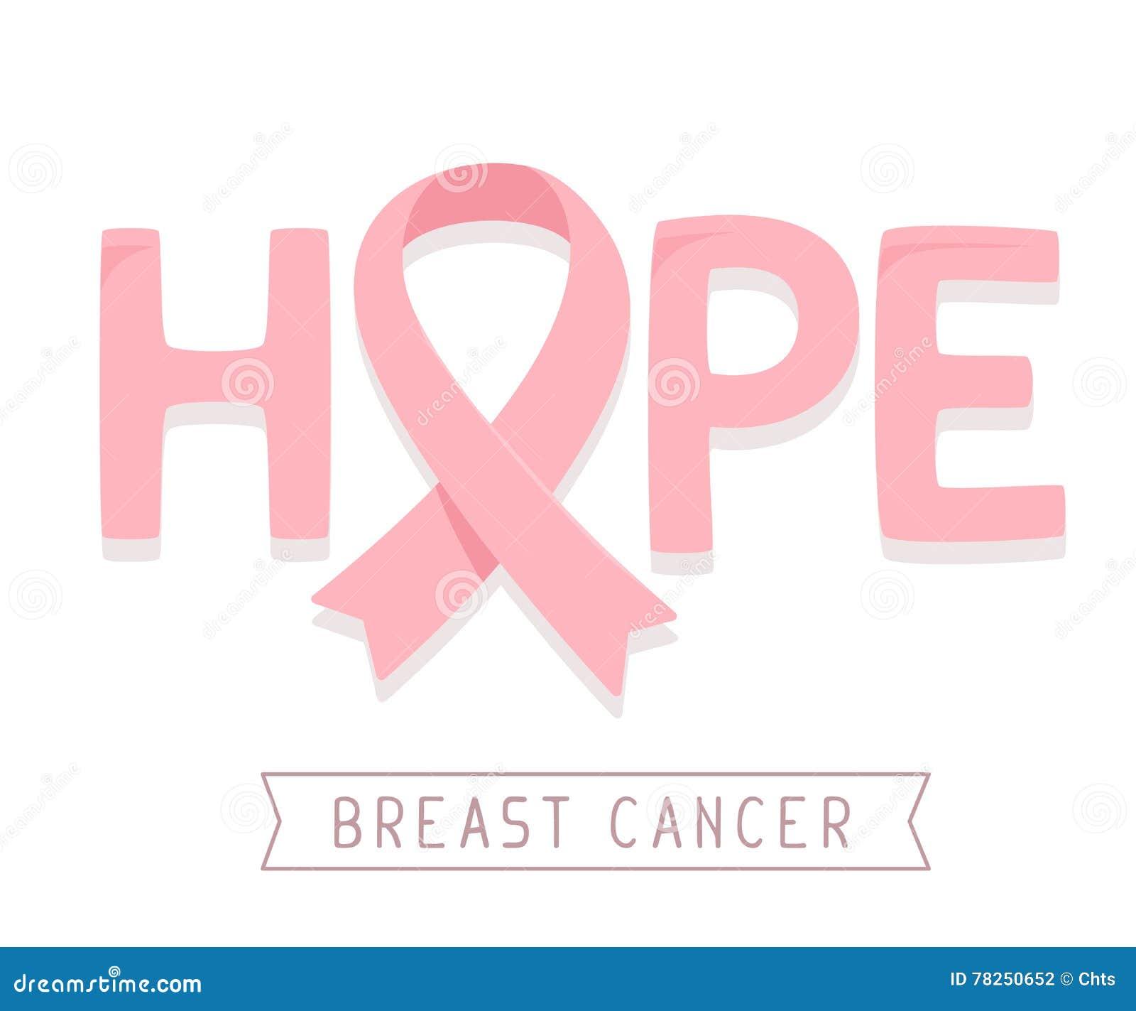 Διανυσματική απεικόνιση για το μήνα συνειδητοποίησης καρκίνου του μαστού με το ροζ