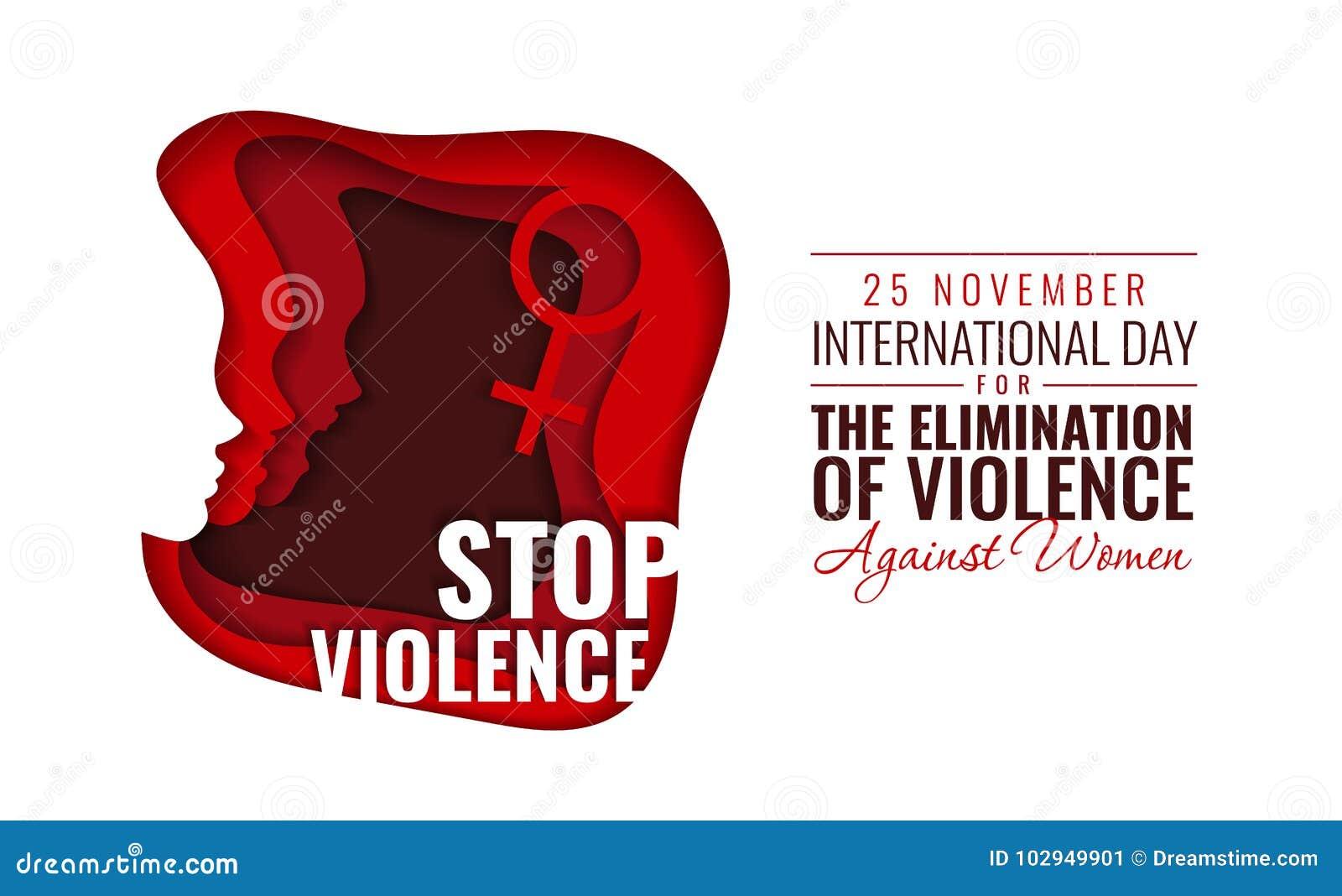 Διανυσματική απεικόνιση εγγράφου για τη διεθνή ημέρα για την αποβολή της βίας κατά των γυναικών